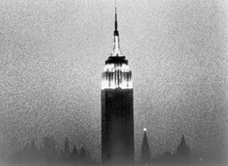 Andy Warhol. Empire. 1964. 16mm film transferred to video (black and white, silent), 8 hrs. 5 min. at 16 fps. © 2020 Andy Warhol Foundation for the Visual Arts / Artists Rights Society (ARS), New York