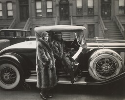 "James Van Der Zee. Couple, Harlem. 1932. Gelatin silver print, 7 1/2 x 9 5/16"" (19 x 23.7 cm). Acquired through the generosity of Richard E. Salomon. © 2017 Estate of James Van der Zee. Photo: John Wronn"