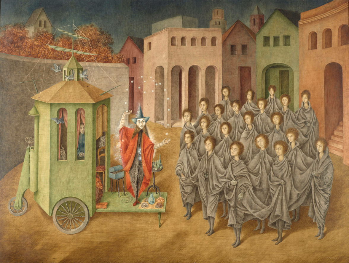 Remedios Varo. The Juggler (The Magician). 1956
