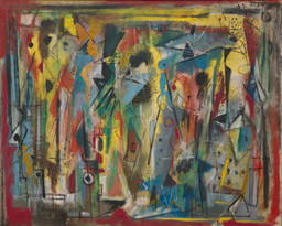 "Norman Lewis, Phantasy II, 1946. Oil on canvas, 28 1/8 x 35 7/8"" (71.4 x 91.2 cm). Gift of The Friends of Education of The Museum of Modern Art. Photo: John Wronn"