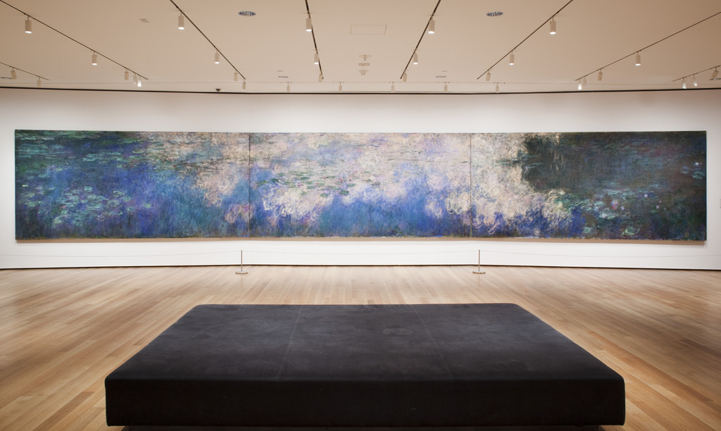 Installation View Of The Exhibition Monet S Water Lilies