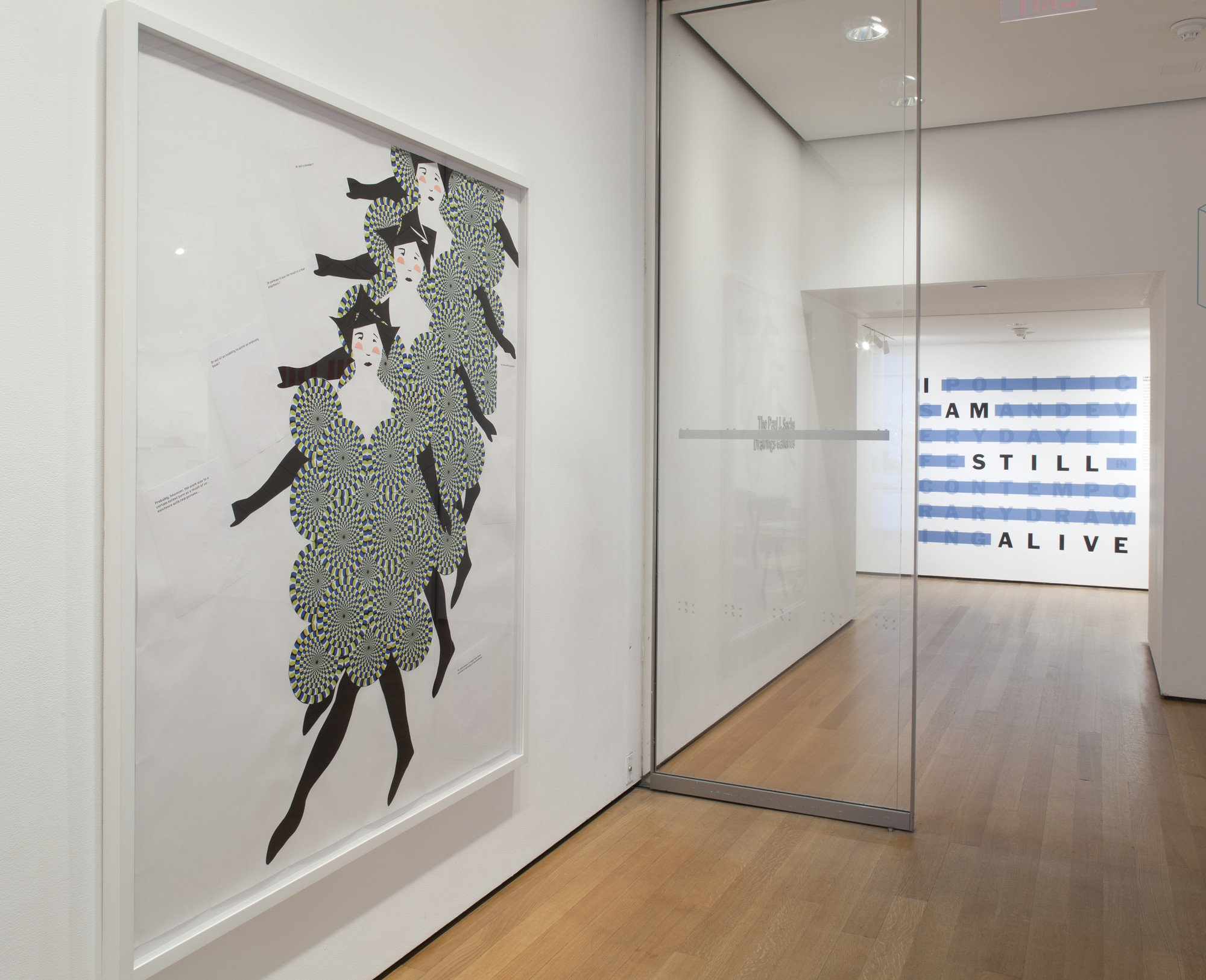 "Installation view of the exhibition, ""I Am Still Alive:  Politics and Everday Life in Contemporary Drawing"" March 23, 2011–September 19, 2011. IN2152.1. Photograph by Thomas Griesel."