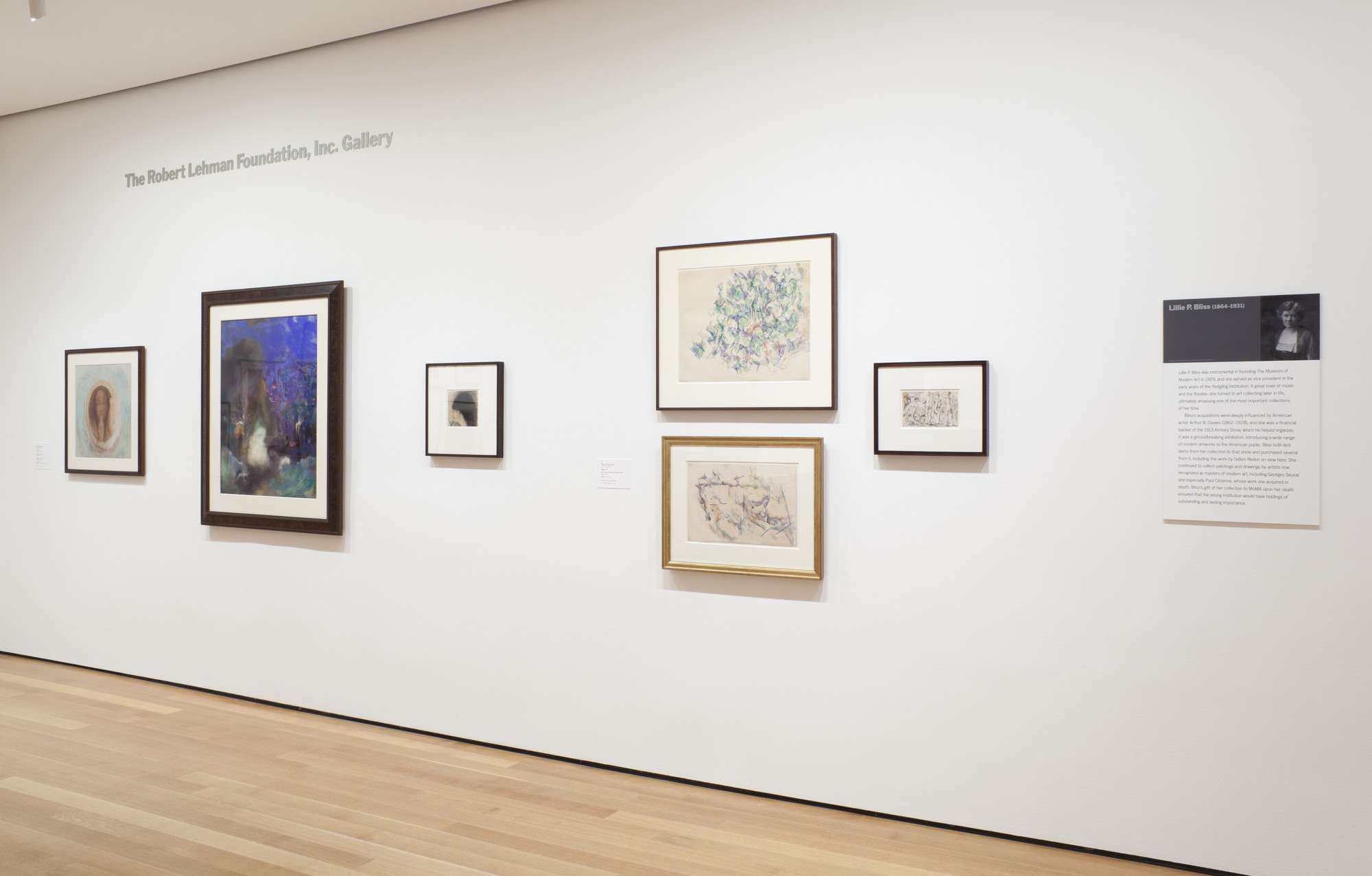 """Installation view of the exhibition, """"Gifted: Collectors and"""