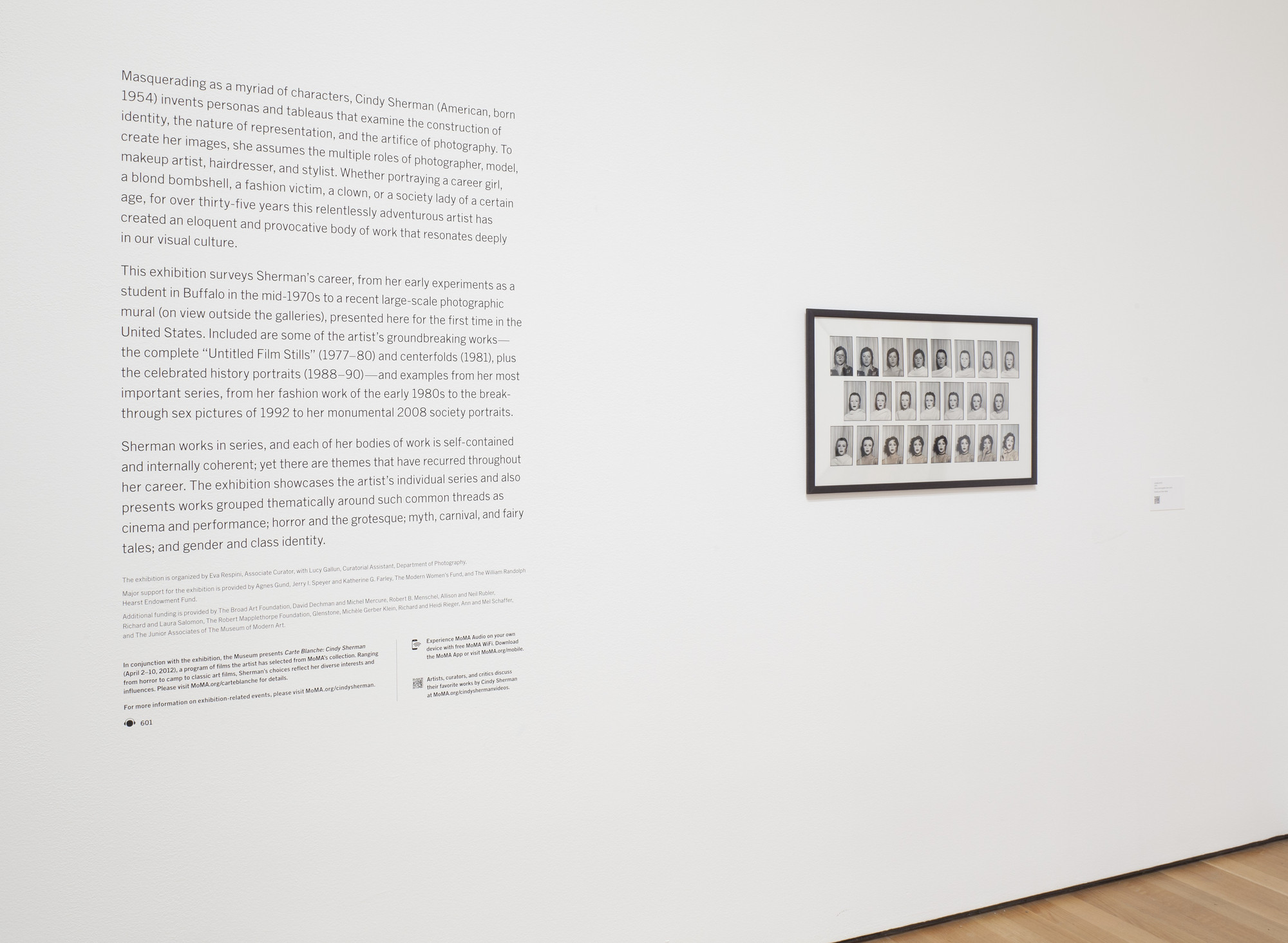 """Installation view of the exhibition, """"Cindy Sherman"""" 