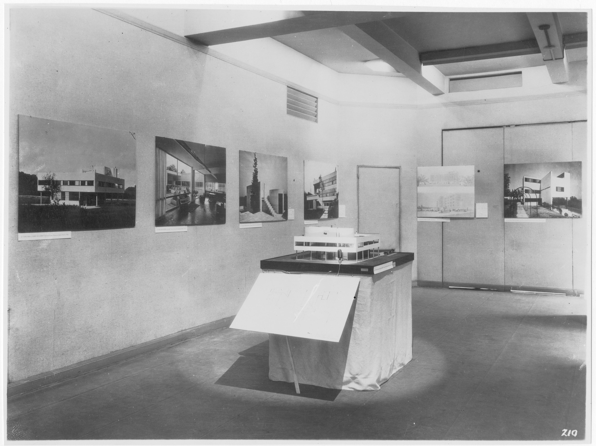 "Installation view of the exhibition, ""Modern Architecture: International Exhibition."" February 9, 1932–March 23, 1932. Photographic Archive. The Museum of Modern Art Archives, New York. IN15.1"