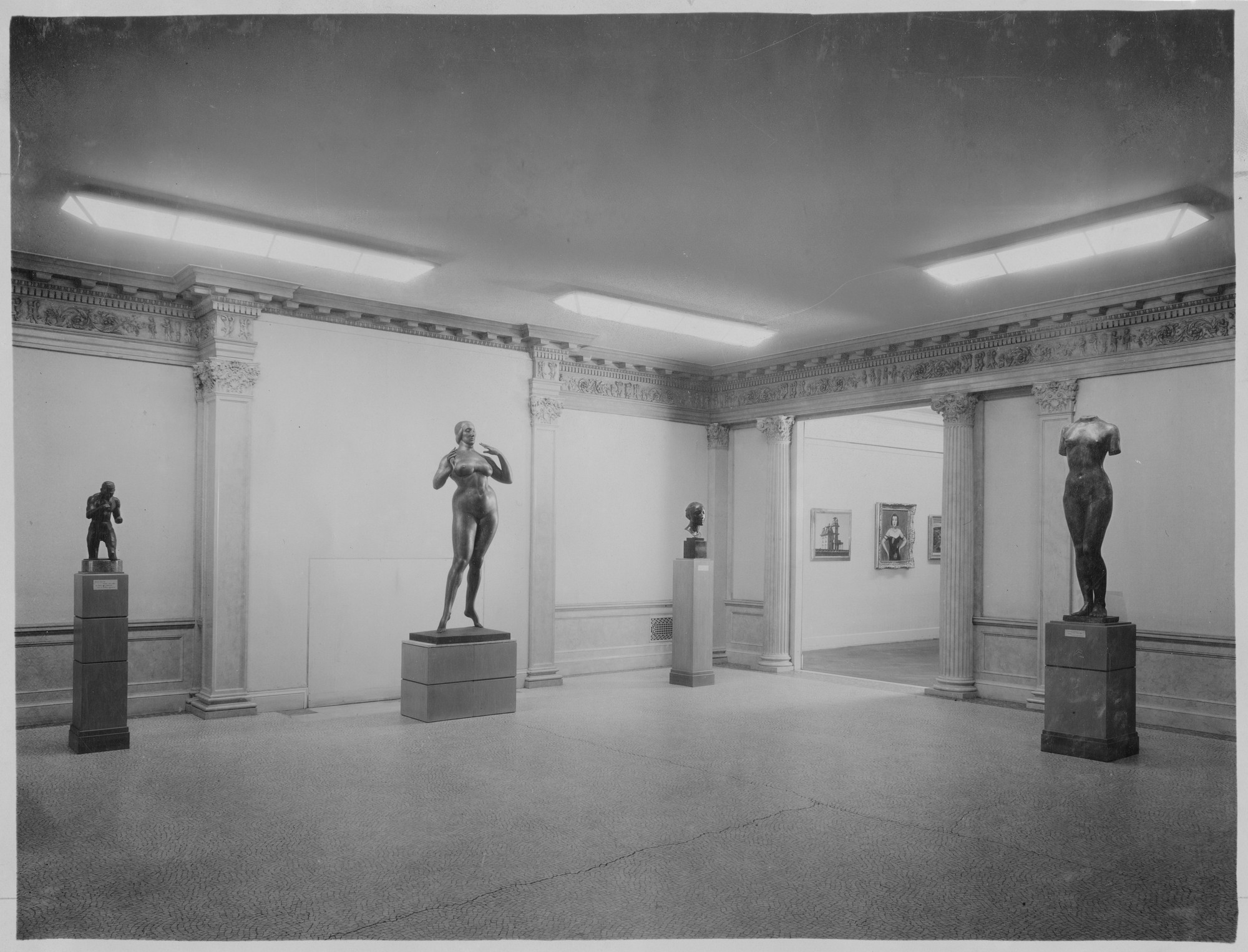 "Installation view of the exhibition, ""Summer Exhibition:  Painting and Sculpture."" June 7, 1932–October 30, 1932. Photographic Archive. The Museum of Modern Art Archives, New York. IN17.1"