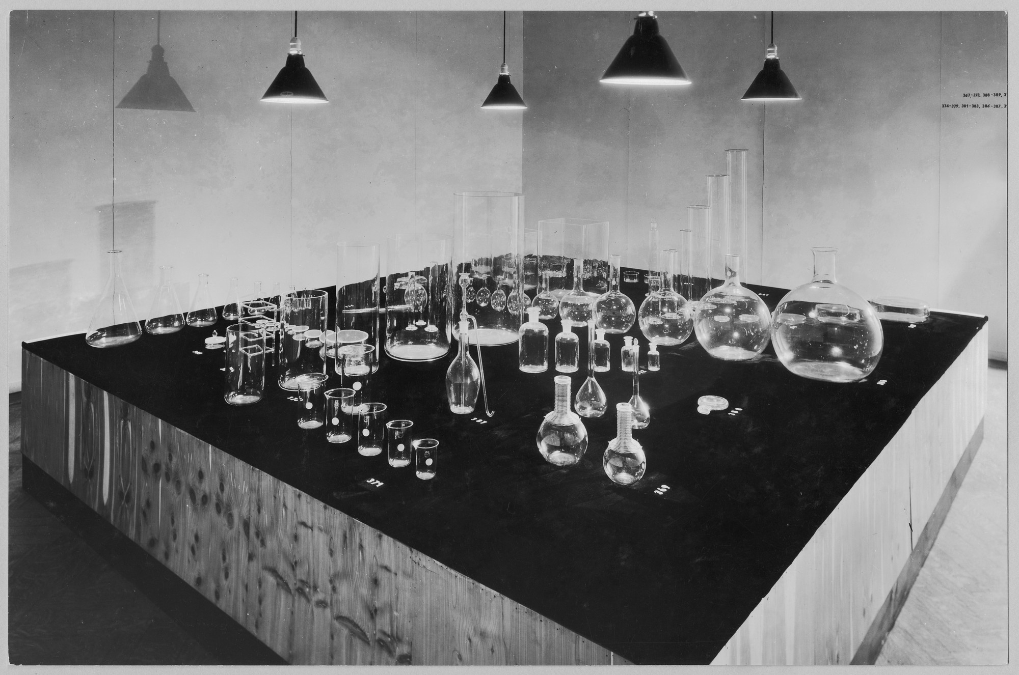 "Installation view of the exhibition, ""Machine Art."" March 5, 1934–April 29, 1934. Photographic Archive. The Museum of Modern Art Archives, New York. IN34.1"