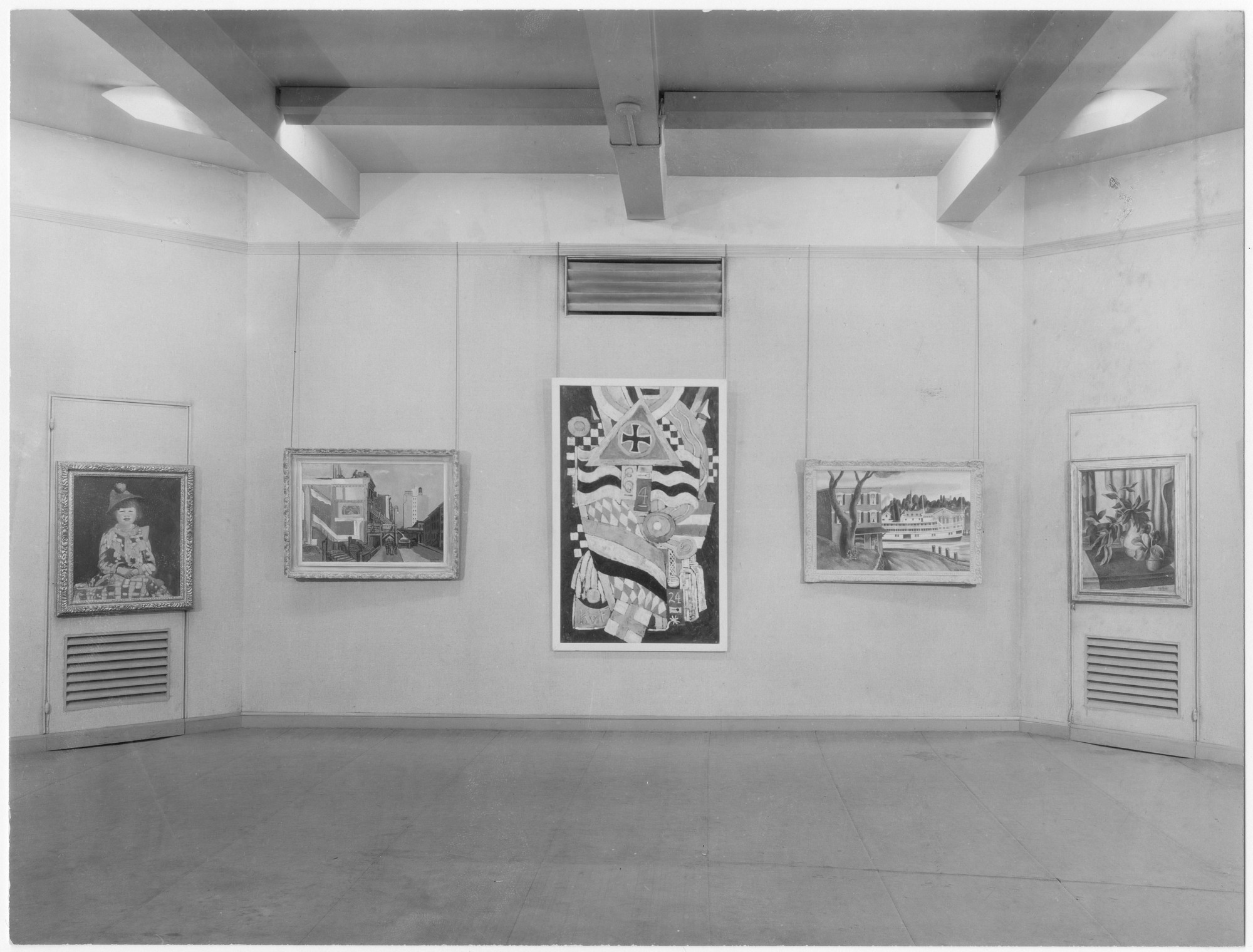 "Installation view of the exhibition, ""Painting and Sculpture by Living Americans."" December 3, 1930–January 20, 1931. Photographic Archive. The Museum of Modern Art Archives, New York. IN9.1. Photograph by Peter A. Juley."