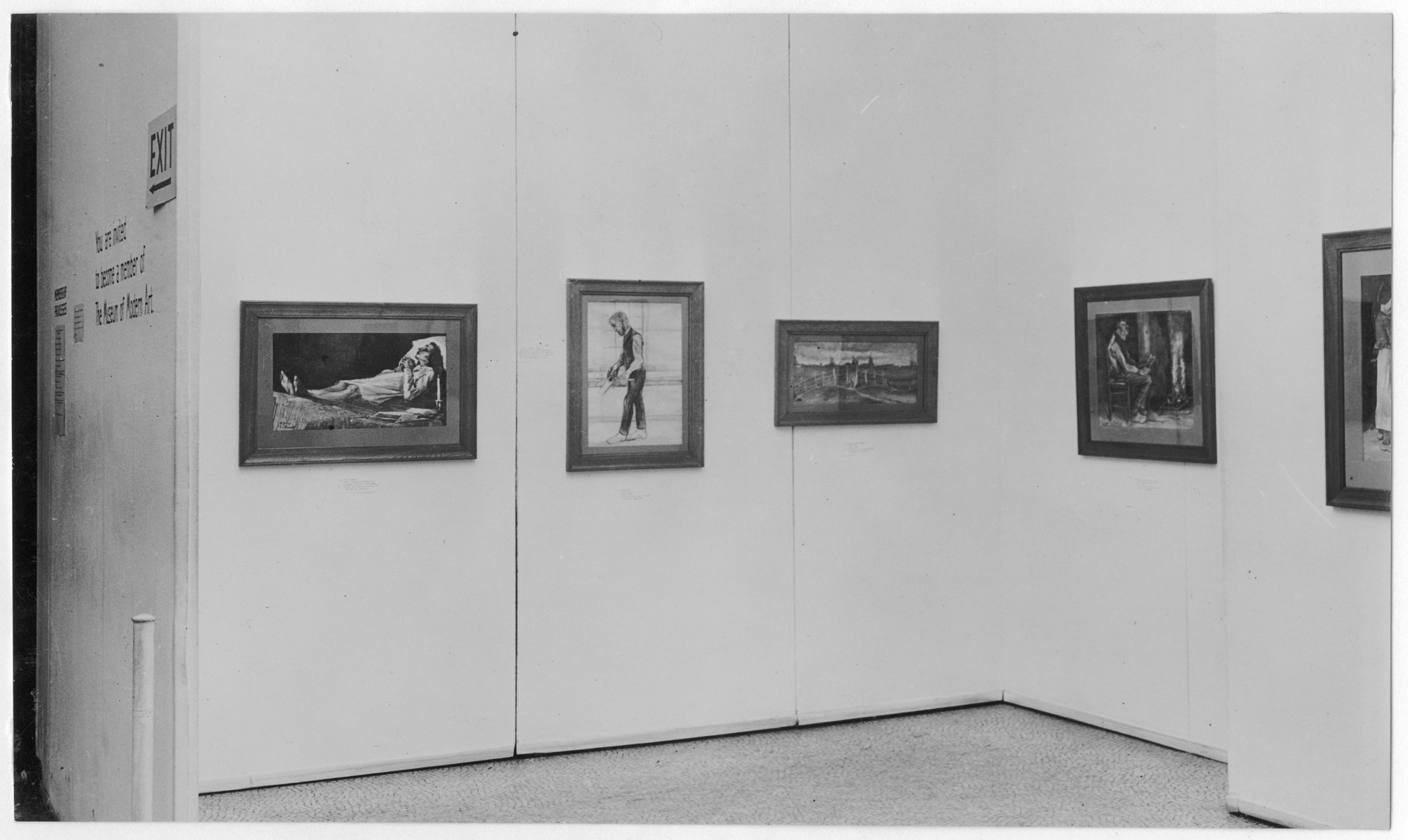 "Installation view of the exhibition, ""Vincent van Gogh"" November 4, 1935–January 5, 1936. Photographic Archive. The Museum of Modern Art Archives, New York. IN44.4. Photograph by Beaumont Newhall."