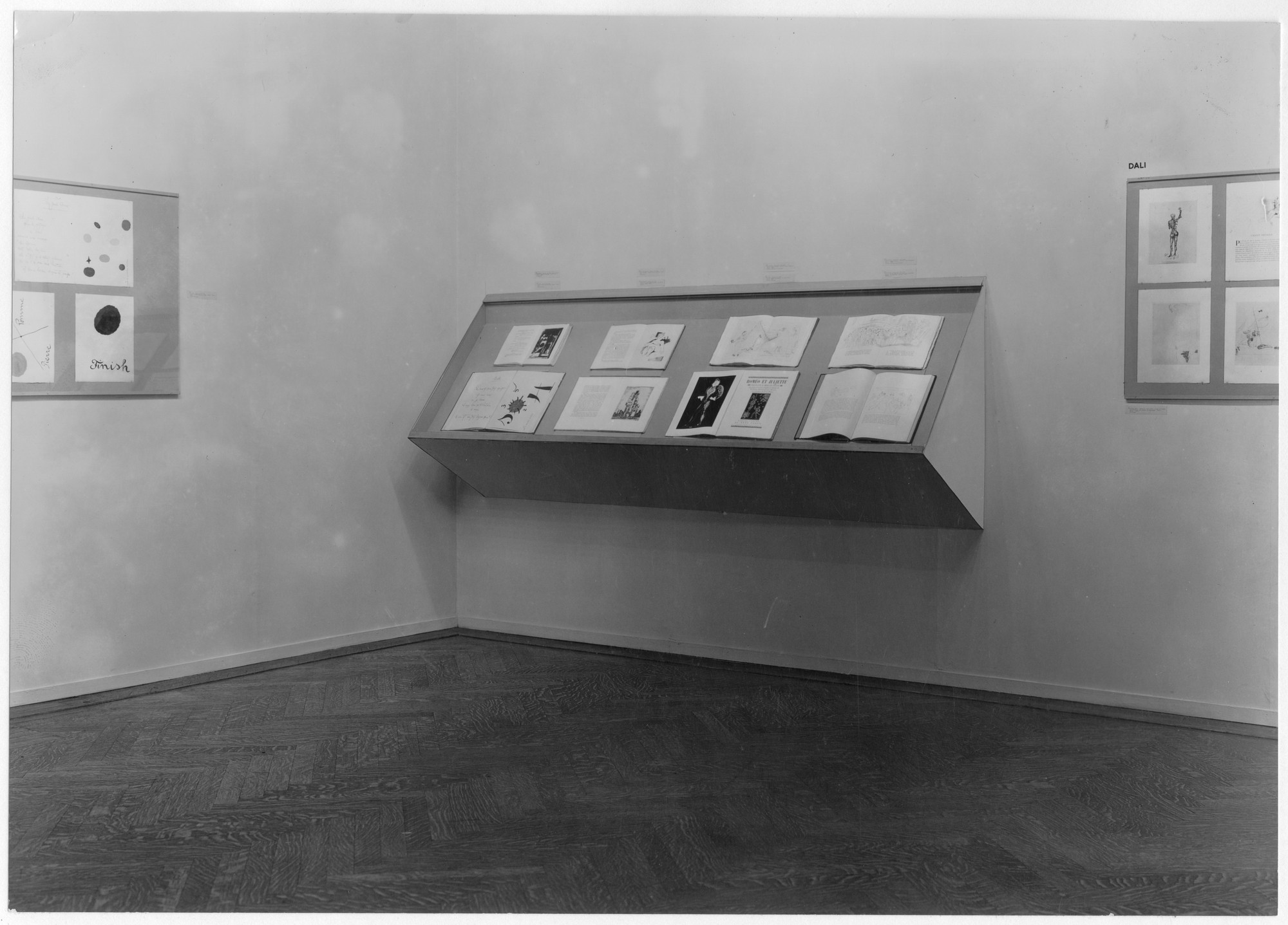 "Installation view of the exhibition, ""Modern Painters and Sculptors as Illustrators."" April 27, 1936–September 2, 1936. Photographic Archive. The Museum of Modern Art Archives, New York. IN47.1"