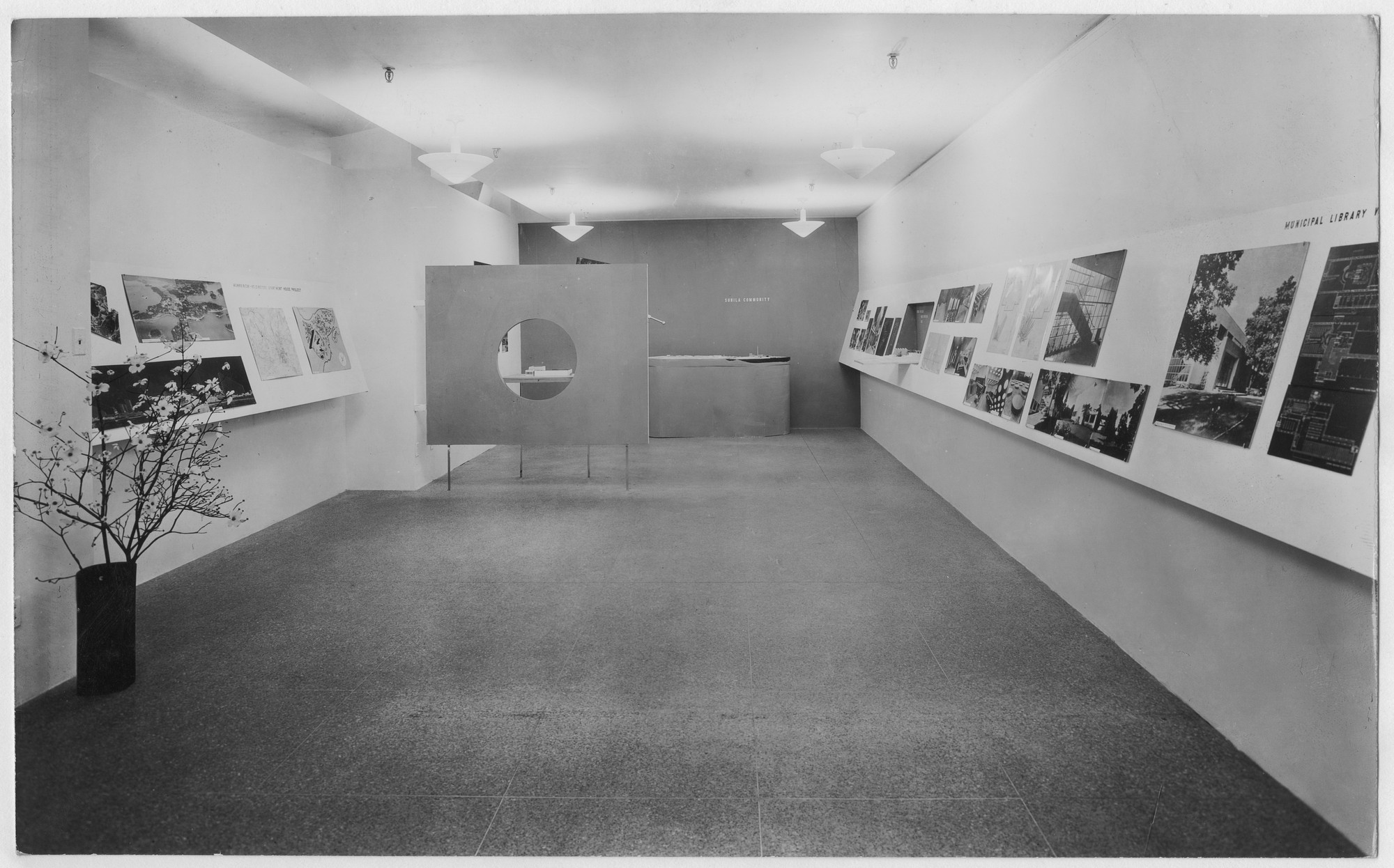 "Installation view of the exhibition, ""Alvar Aalto:  Architecture and Furniture"" March 15, 1938–April 18, 1938. Photographic Archive. The Museum of Modern Art Archives, New York. IN75.1. Photograph by Soichi Sunami."