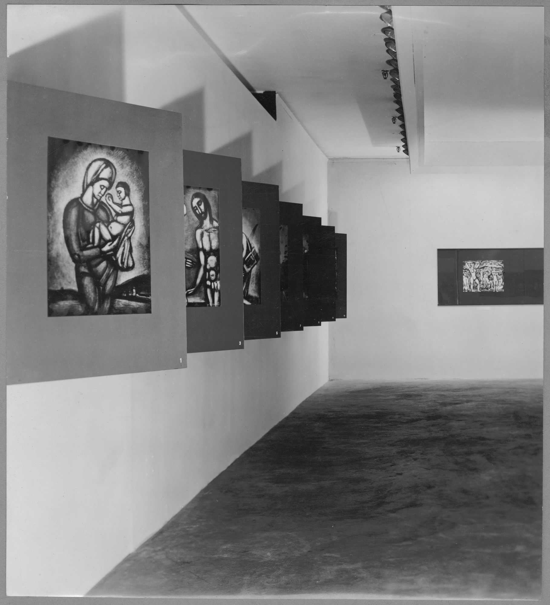 "Installation view of the exhibition, ""The Prints of Georges Rouault."" September 28, 1938–November 18, 1938. Photographic Archive. The Museum of Modern Art Archives, New York. IN79.1"