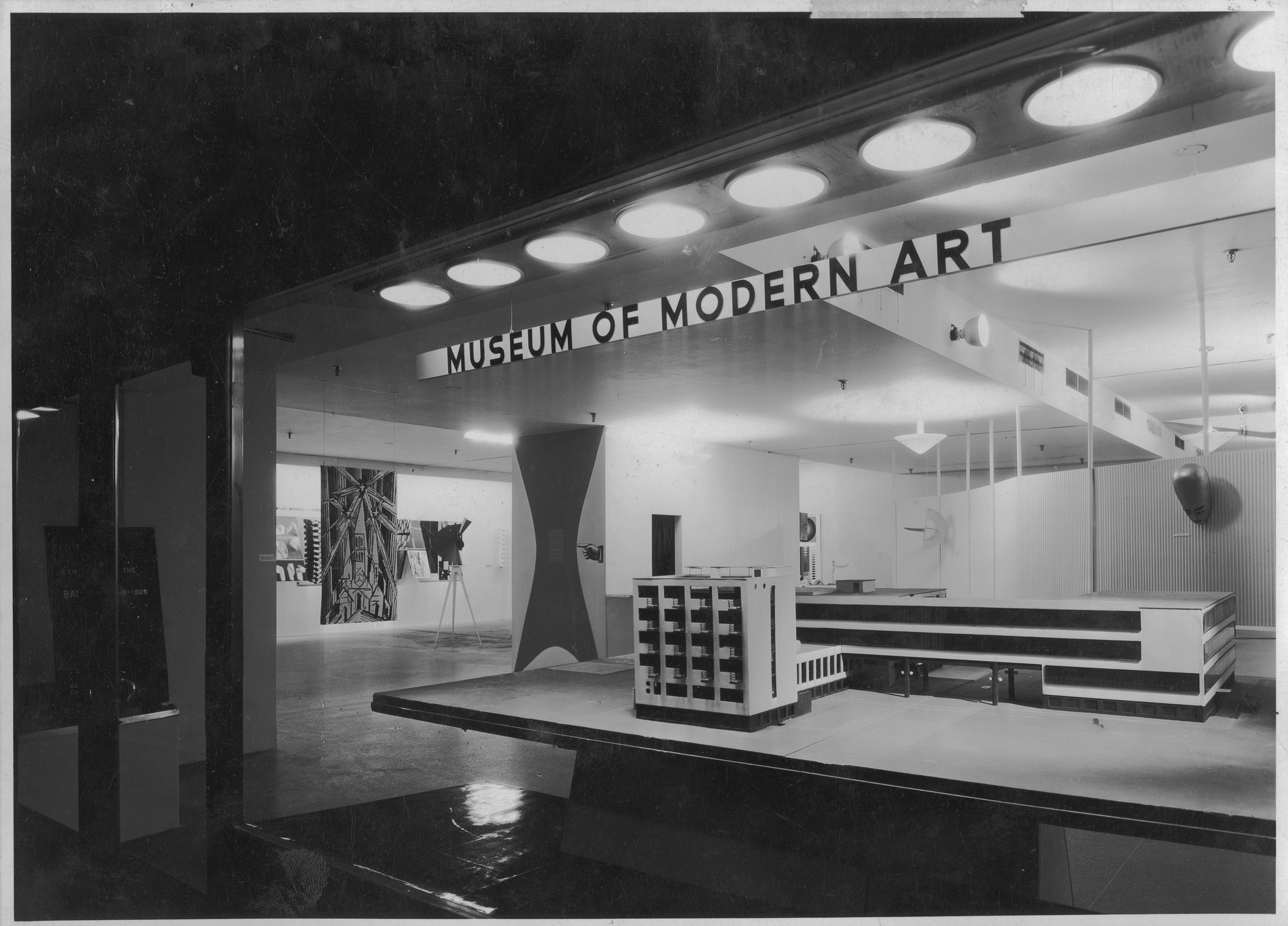 "Installation view of the exhibition, ""Bauhaus: 1919-1928"" December 7, 1938–January 30, 1939. Photographic Archive. The Museum of Modern Art Archives, New York. IN82.7. Photograph by Soichi Sunami."