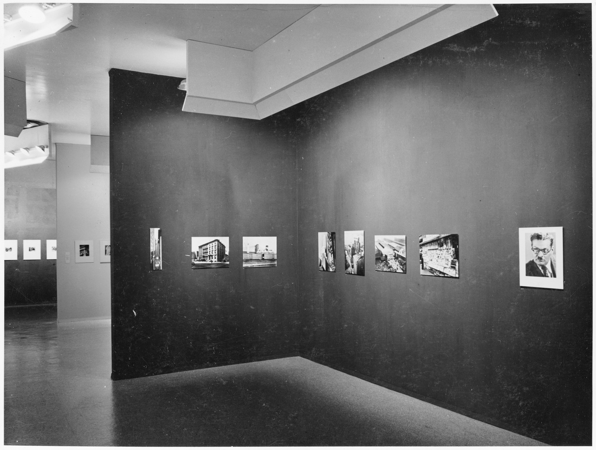 "Installation view of the exhibition, ""Seven American Photographers,"" in the series, ""Art in Our Time:  10th Anniversary Exhibition."" May 10, 1939–September 30, 1939. Photographic Archive. The Museum of Modern Art Archives, New York. IN86.1. Photograph by Eliot Elisofon."