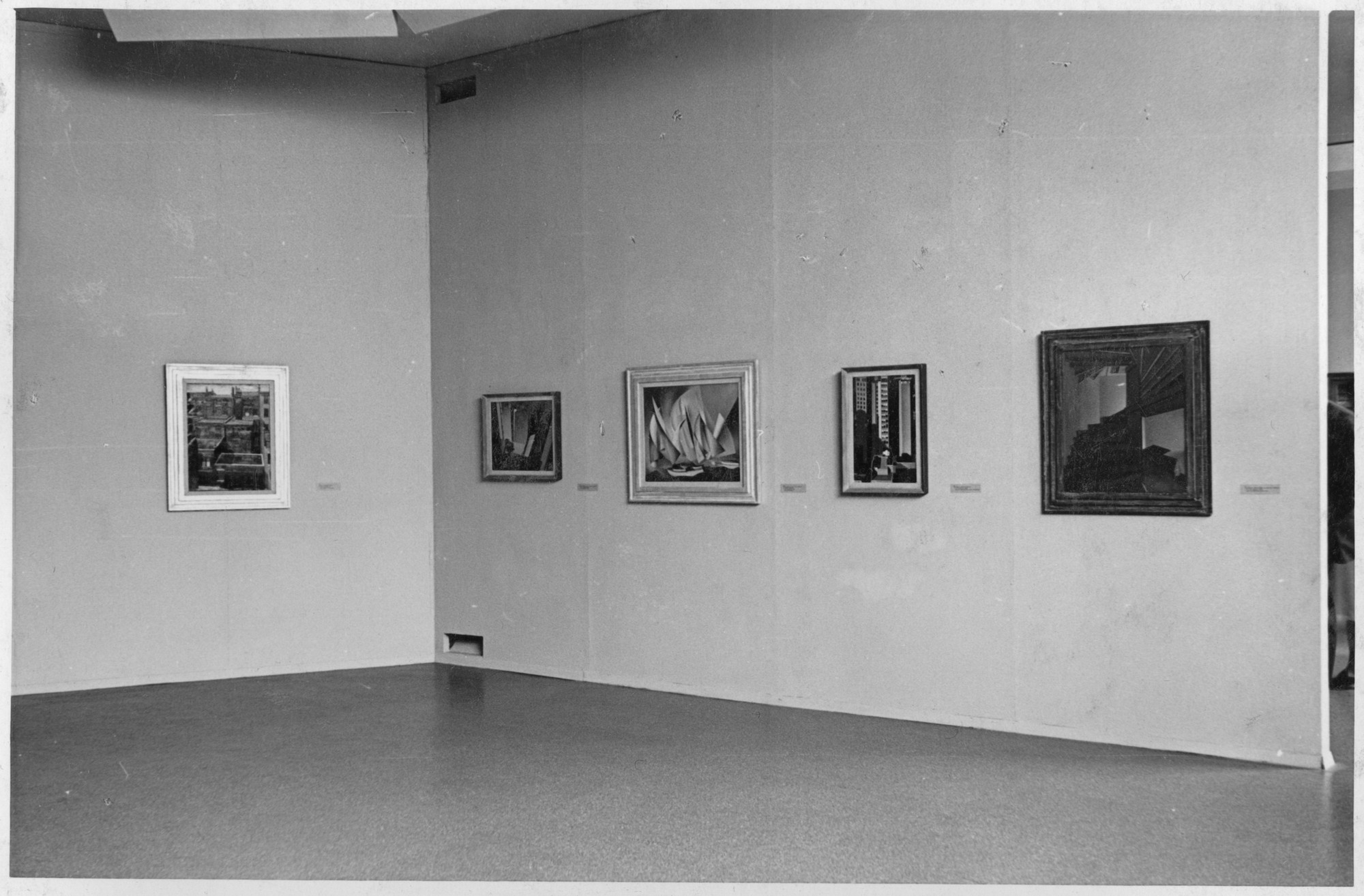 "Installation view of the exhibition, ""Charles Sheeler."" October 2, 1939–November 1, 1939. Photographic Archive. The Museum of Modern Art Archives, New York. IN90.1A. Photograph by Beaumont Newhall."