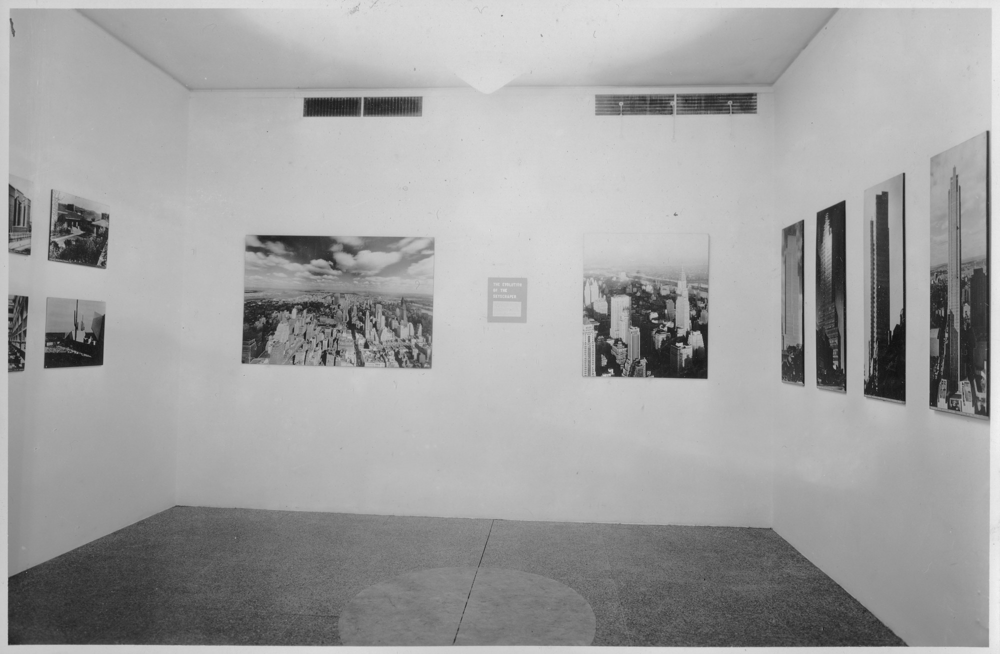 "Installation view of the exhibition, ""Three Centuries of American Architecture."" February 15, 1939–March 15, 1939. Photographic Archive. The Museum of Modern Art Archives, New York. IN83.1. Photograph by Soichi Sunami."