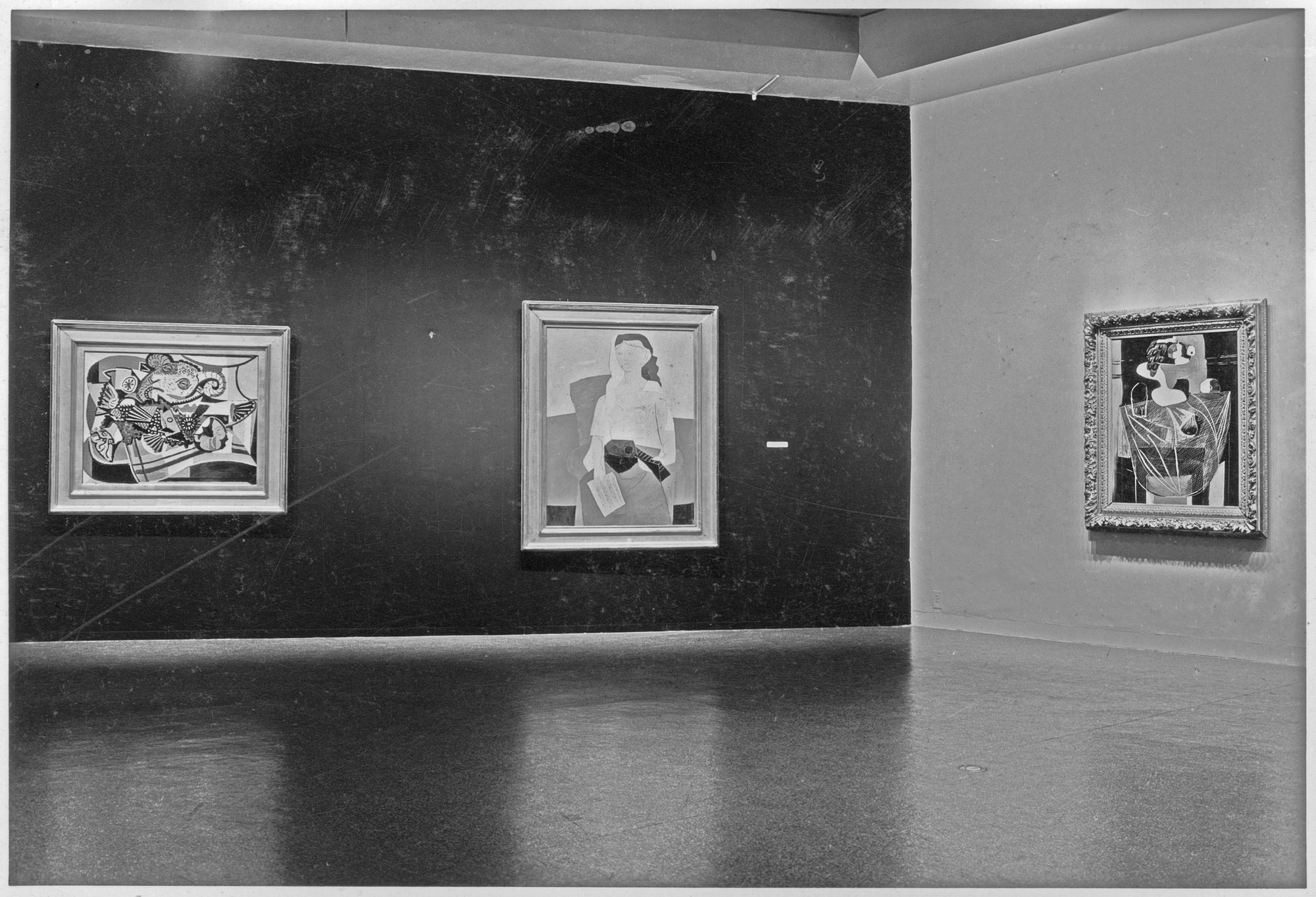 "Installation view of the exhibition, ""Picasso: Forty Years of His Art."" November 15, 1939–January 7, 1940. Photographic Archive. The Museum of Modern Art Archives, New York. IN91.1. Photograph by Soichi Sunami."