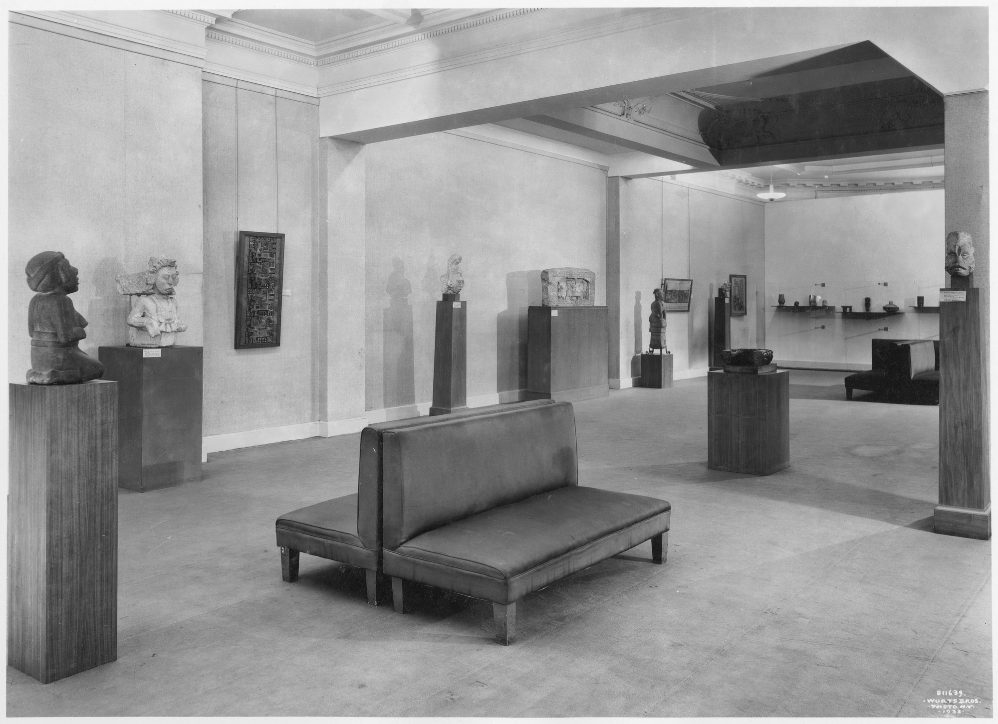 "Installation view of the exhibition, ""American Sources of Modern Art (Aztec, Mayan, Incan)."" May 8, 1933–July 1, 1933. Photographic Archive. The Museum of Modern Art Archives, New York. IN29.1"
