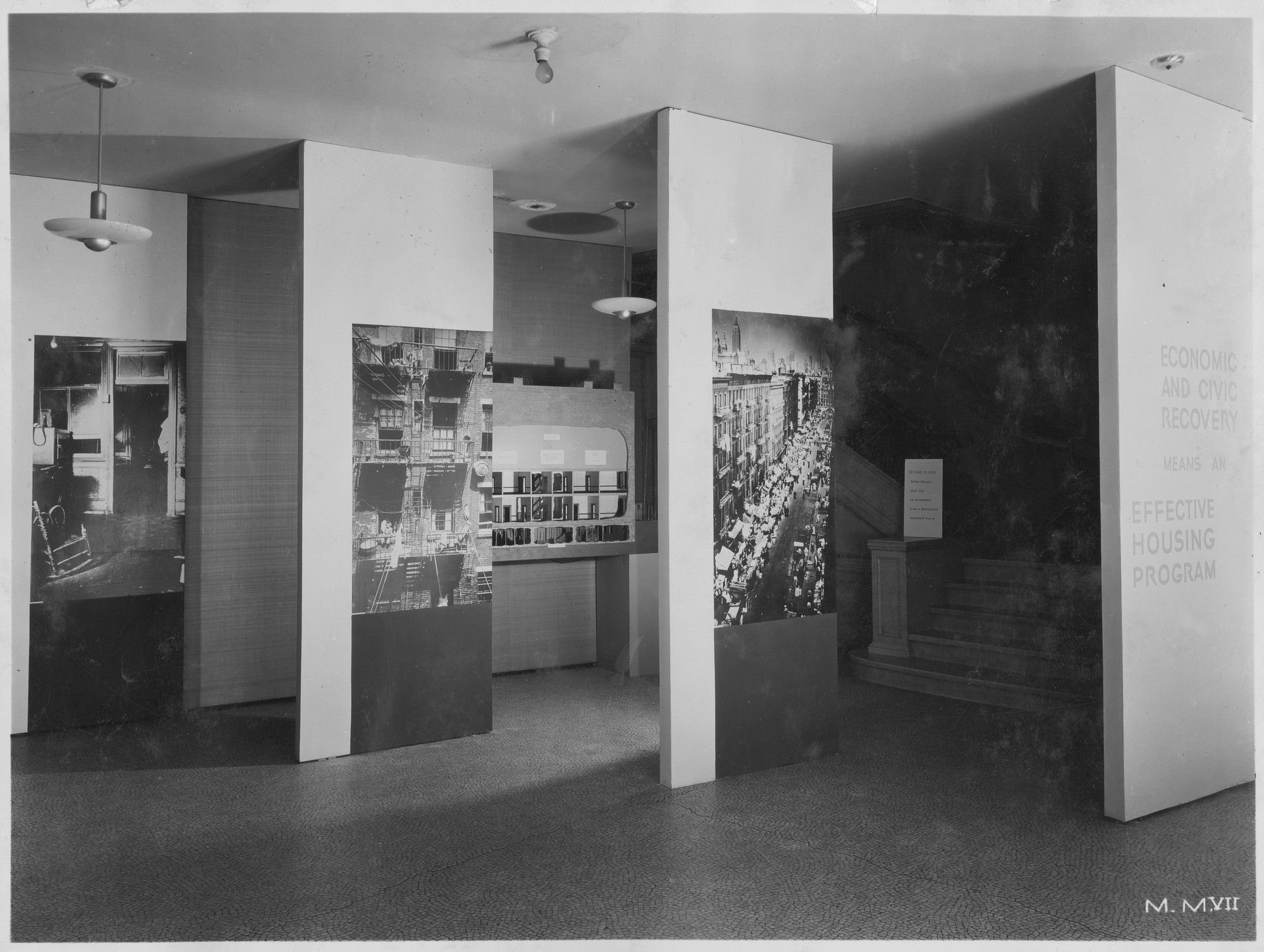 "Installation view of the exhibition, ""Housing Exhibition of the City of New York"" October 15, 1934–November 7, 1934. Photographic Archive. The Museum of Modern Art Archives, New York. IN36.1"