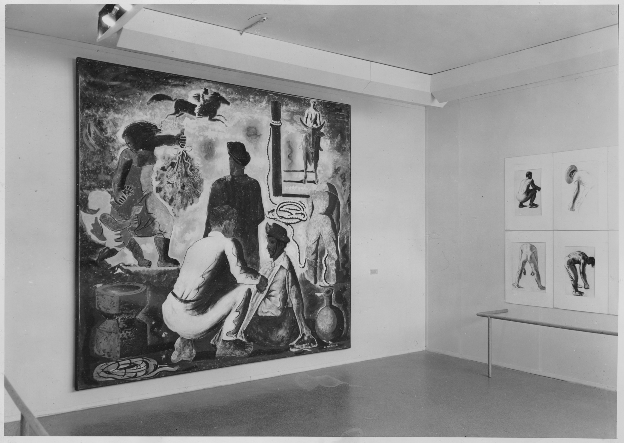 "Installation view of the exhibition, ""Portinari of Brazil."" October 9, 1940–November 17, 1940. Photographic Archive. The Museum of Modern Art Archives, New York. IN108.2"