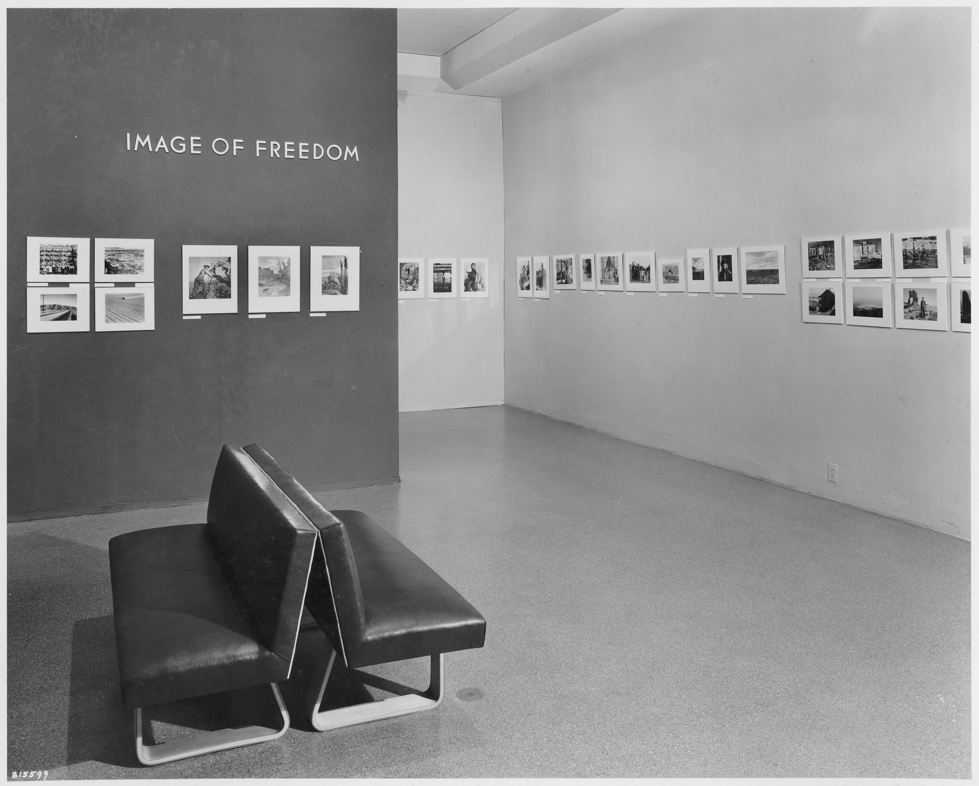 "Installation view of the exhibition, ""Image of Freedom."" October 29, 1941–February 1, 1942. Photographic Archive. The Museum of Modern Art Archives, New York. IN155.1"