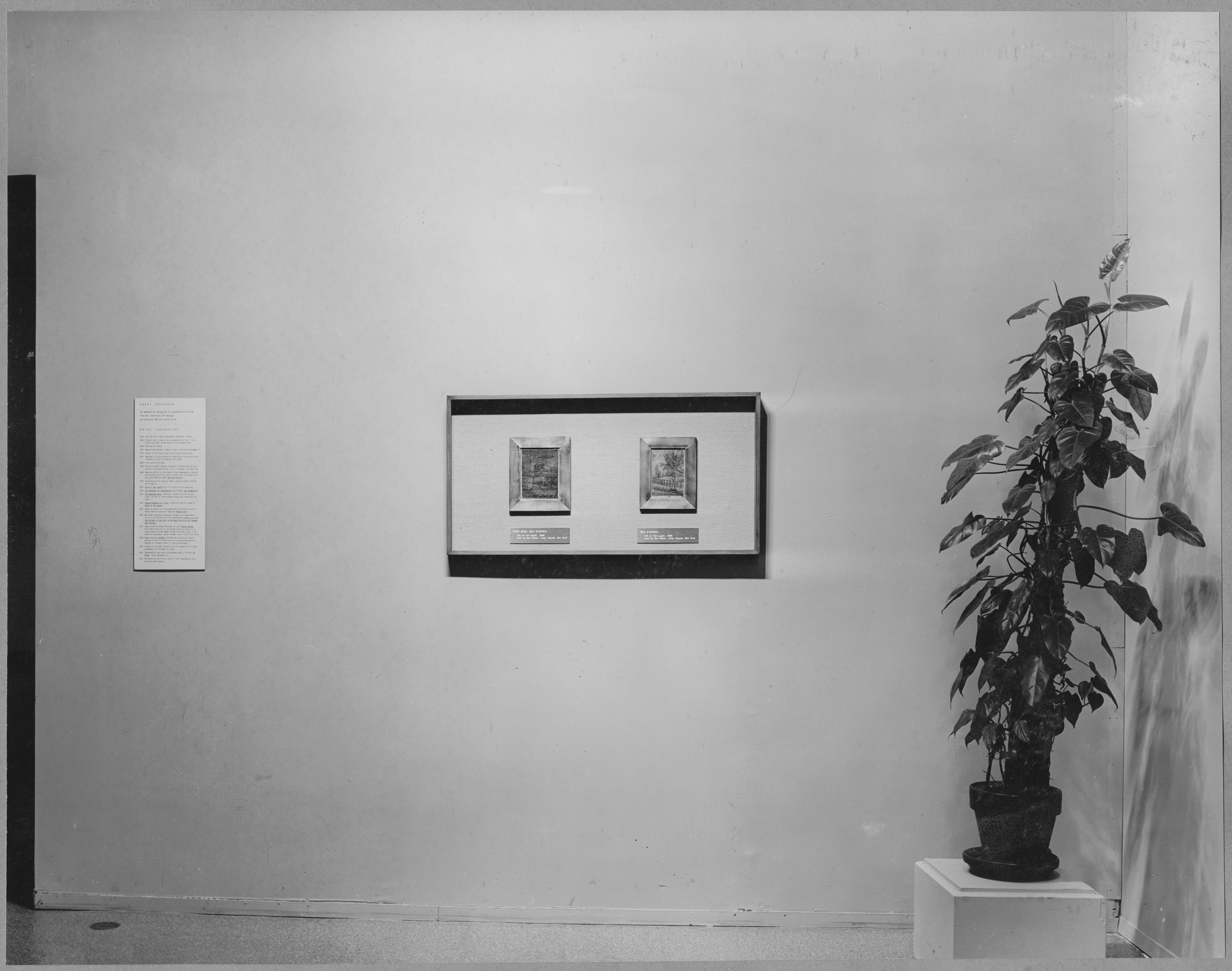 "Installation view of the exhibition, ""Henri Rousseau."" March 18, 1942–May 3, 1942. Photographic Archive. The Museum of Modern Art Archives, New York. IN175.1"