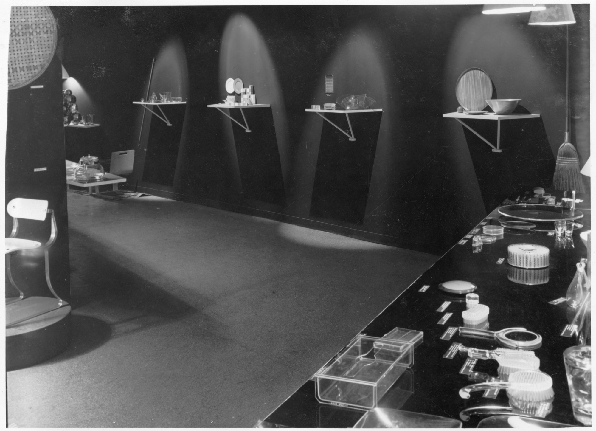 "Installation view of the exhibition, ""Useful Objects under $10."" December 3, 1941–January 4, 1942. Photographic Archive. The Museum of Modern Art Archives, New York. IN160.2. Photograph by Beaumont Newhall."