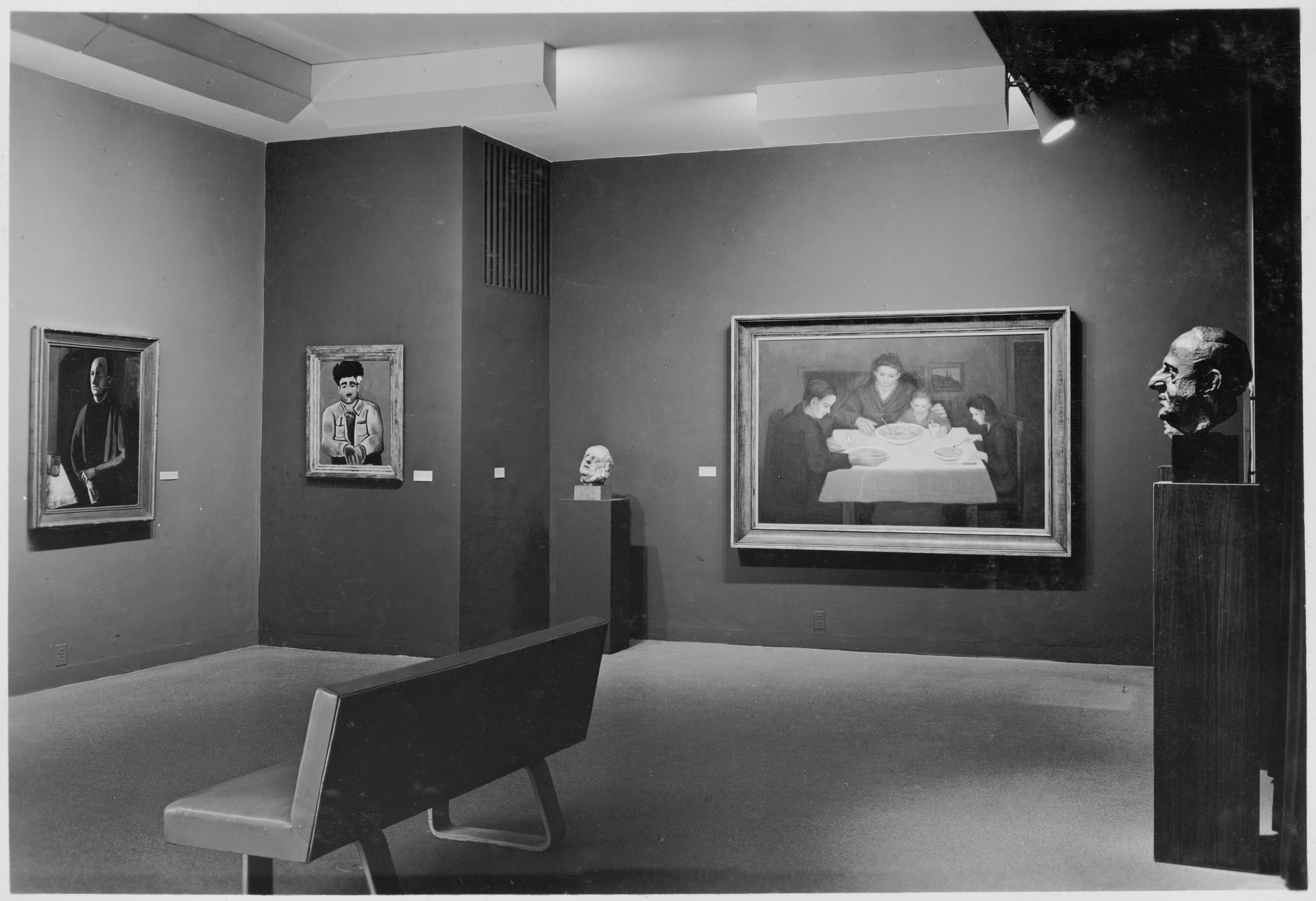"Installation view of the exhibition, ""Twentieth Century Portraits."" December 9, 1942–January 24, 1943. Photographic Archive. The Museum of Modern Art Archives, New York. IN209.4. Photograph by Soichi Sunami."