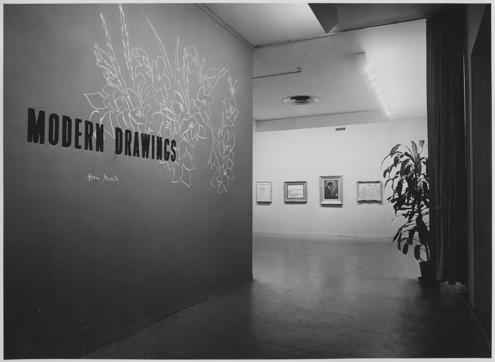 "Installation view of the exhibition, ""Modern Drawings."" February 16, 1944–May 10, 1944. Photographic Archive. The Museum of Modern Art Archives, New York. IN252.1. Photograph by Soichi Sunami."