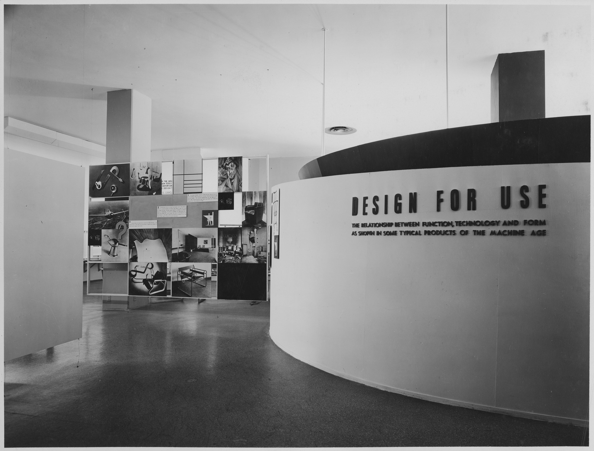 "Installation view of the exhibition, ""Design for Use,"" in the series, ""Art in Progress:  15th Anniversary Exhibition."" May 24, 1944–October 22, 1944. Photographic Archive. The Museum of Modern Art Archives, New York. IN258b.1. Photograph by Soichi Sunami."