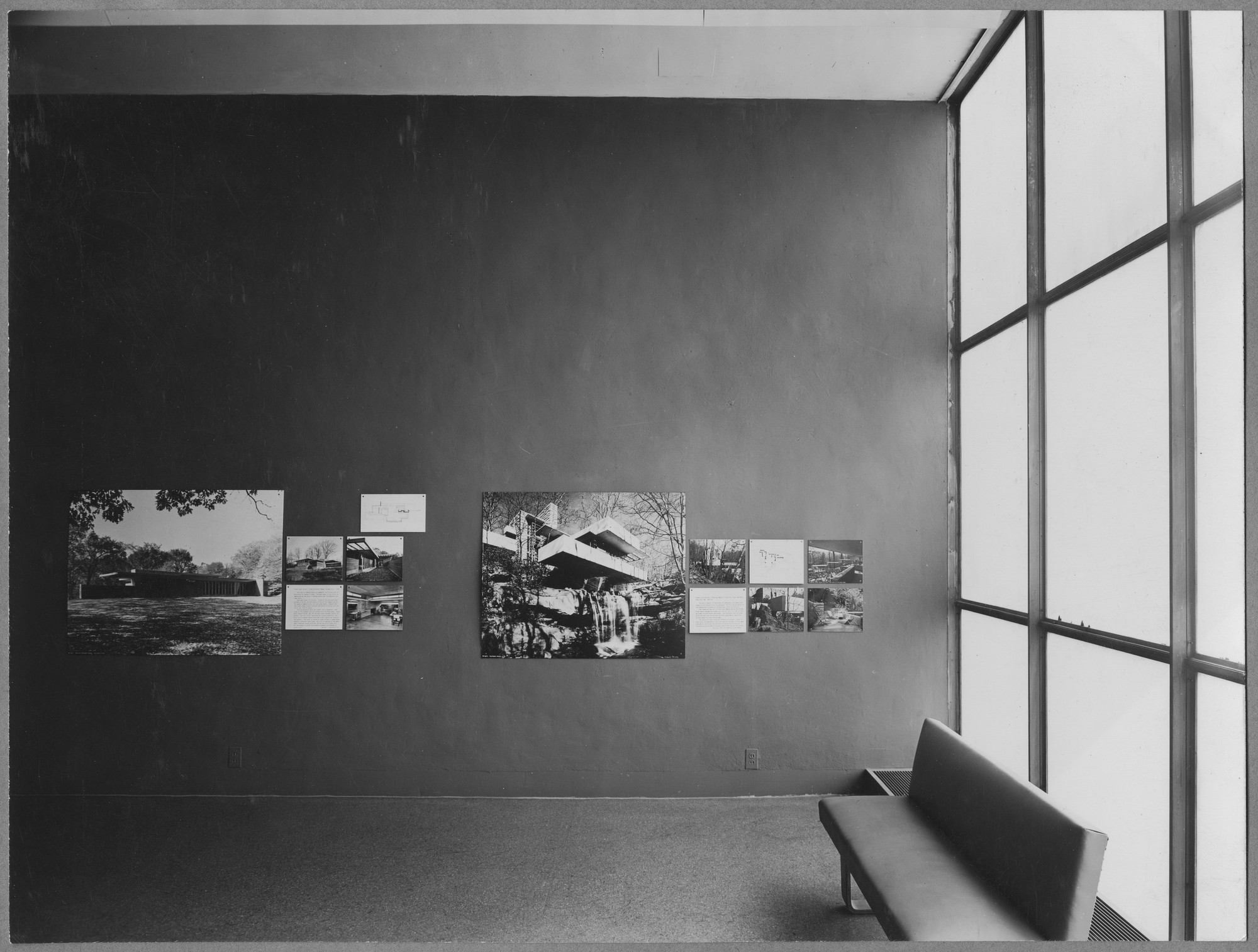 "Installation view of the exhibition, ""Built in the U.S.A., 1932-44"" in the series, ""Art in Progress:  15th Anniversary Exhibition"" May 24, 1944–October 22, 1944. Photographic Archive. The Museum of Modern Art Archives, New York. IN258c.1. Photograph by Soichi Sunami."