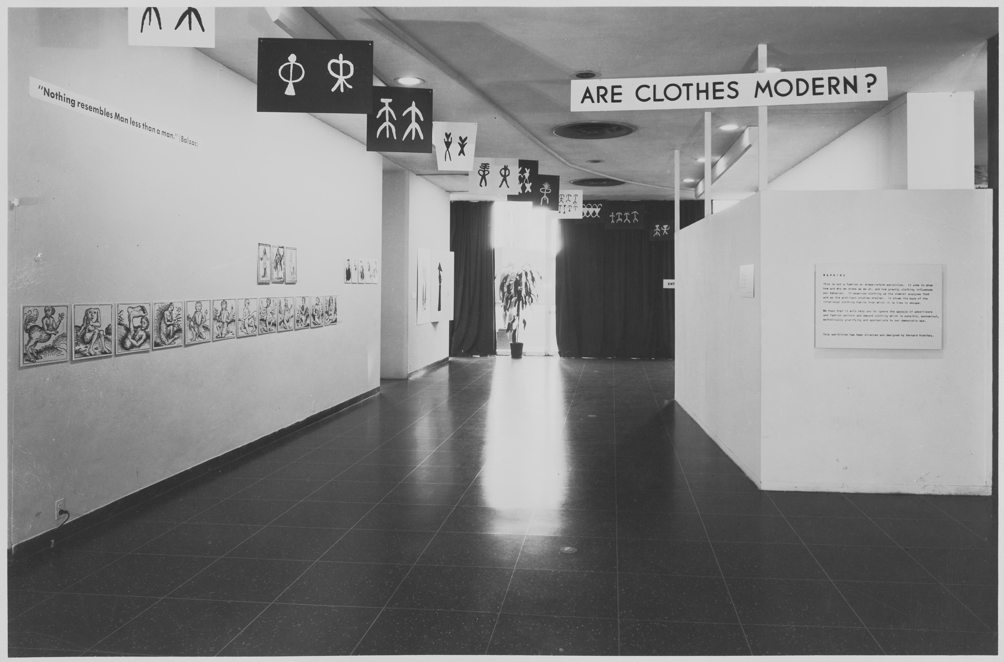 "Installation view of the exhibition, ""Are Clothes Modern?"" November 28, 1944–March 4, 1945. Photographic Archive. The Museum of Modern Art Archives, New York. IN269.1. Photograph by Soichi Sunami."