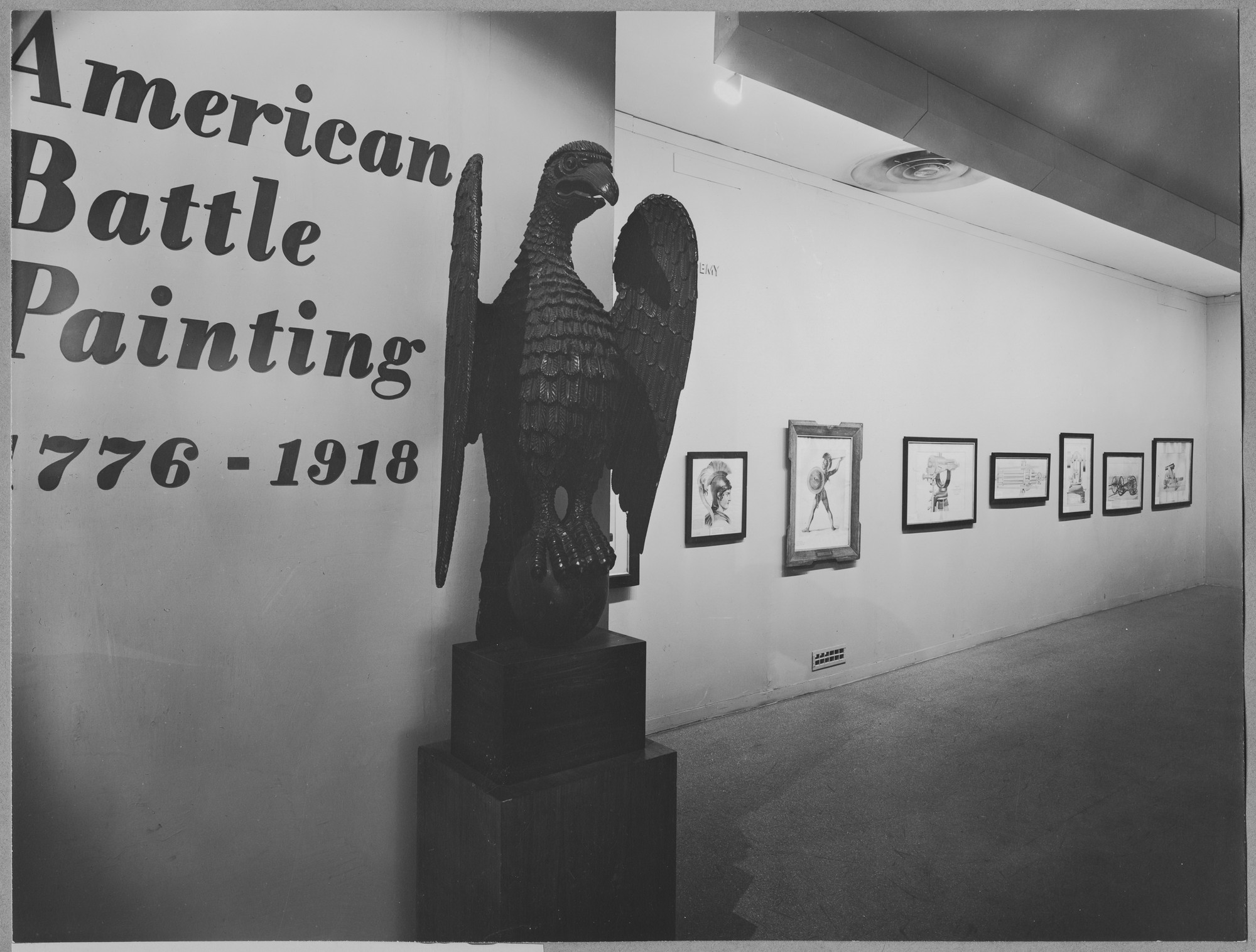 "Installation view of the exhibition,""American Battle Painting 1776-1918."" September 26, 1944–November 12, 1944. Photographic Archive. The Museum of Modern Art Archives, New York. IN261.1. Photograph by Soichi Sunami."