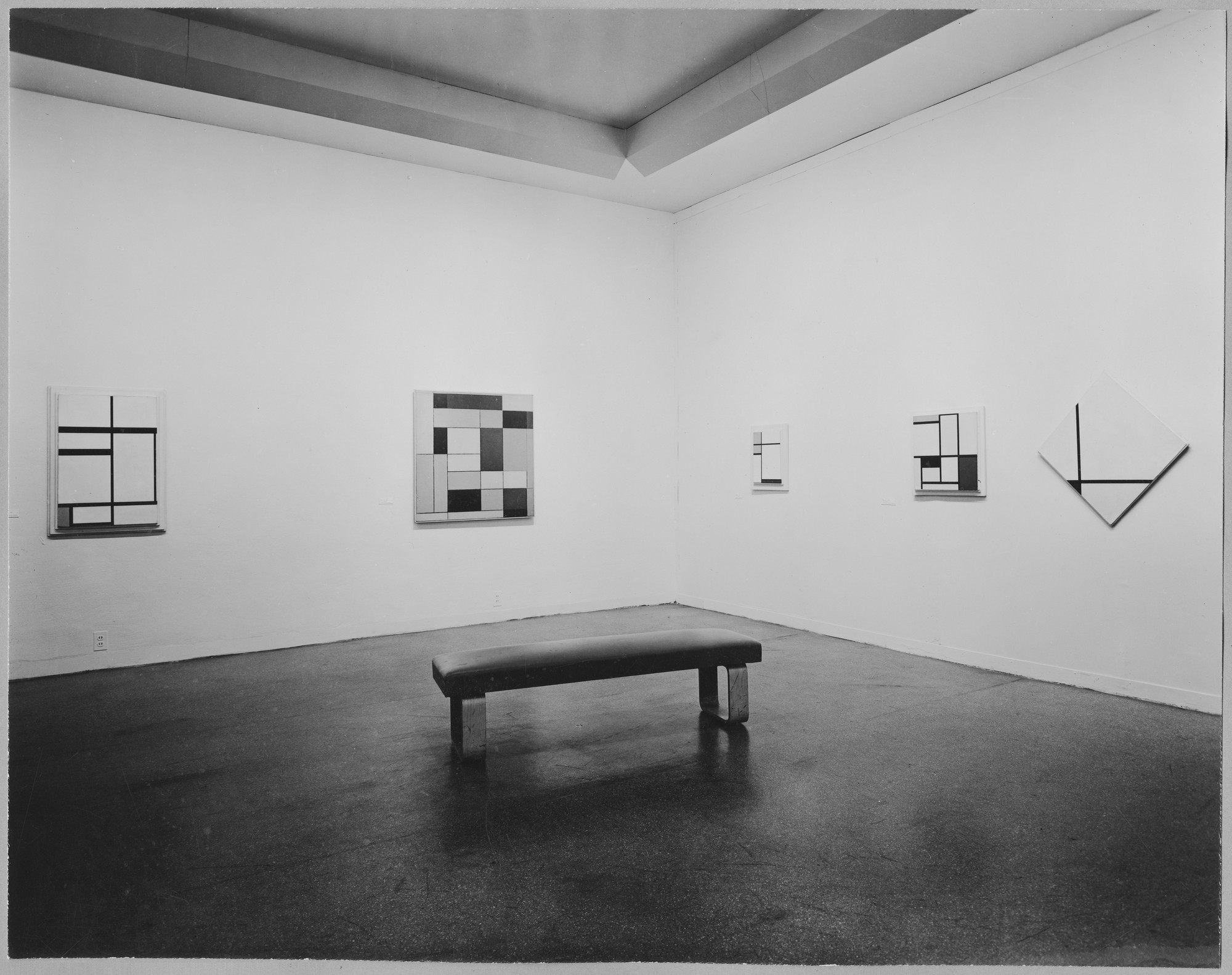 "Installation view of the exhibition, ""Piet Mondrian."" March 21, 1945–May 13, 1945. Photographic Archive. The Museum of Modern Art Archives, New York. IN282.1. Photograph by Soichi Sunami."