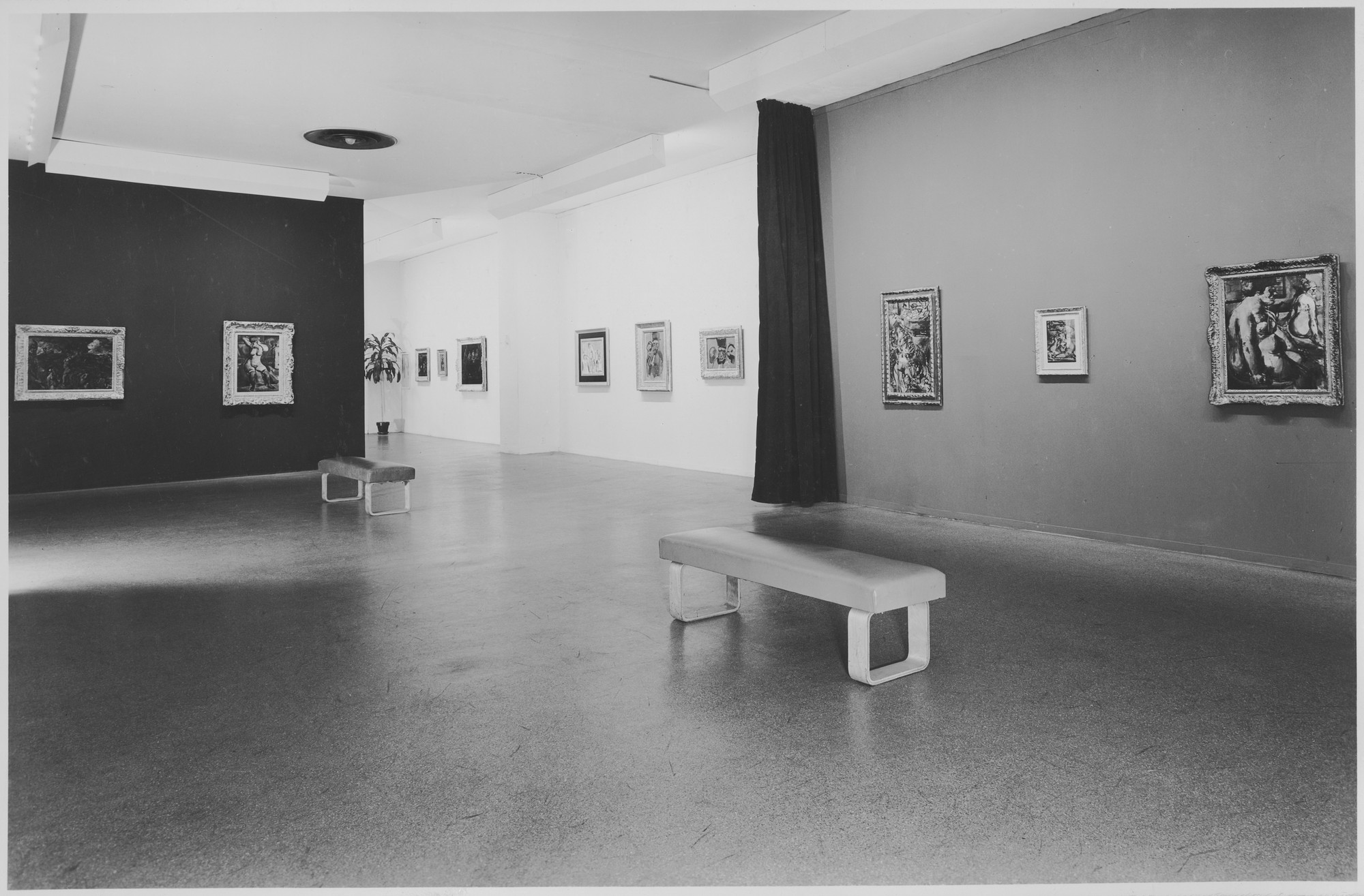 "Installation view of the exhibition, ""Georges Rouault."" April 4, 1945–June 3, 1945. Photographic Archive. The Museum of Modern Art Archives, New York. IN284.1. Photograph by Soichi Sunami."