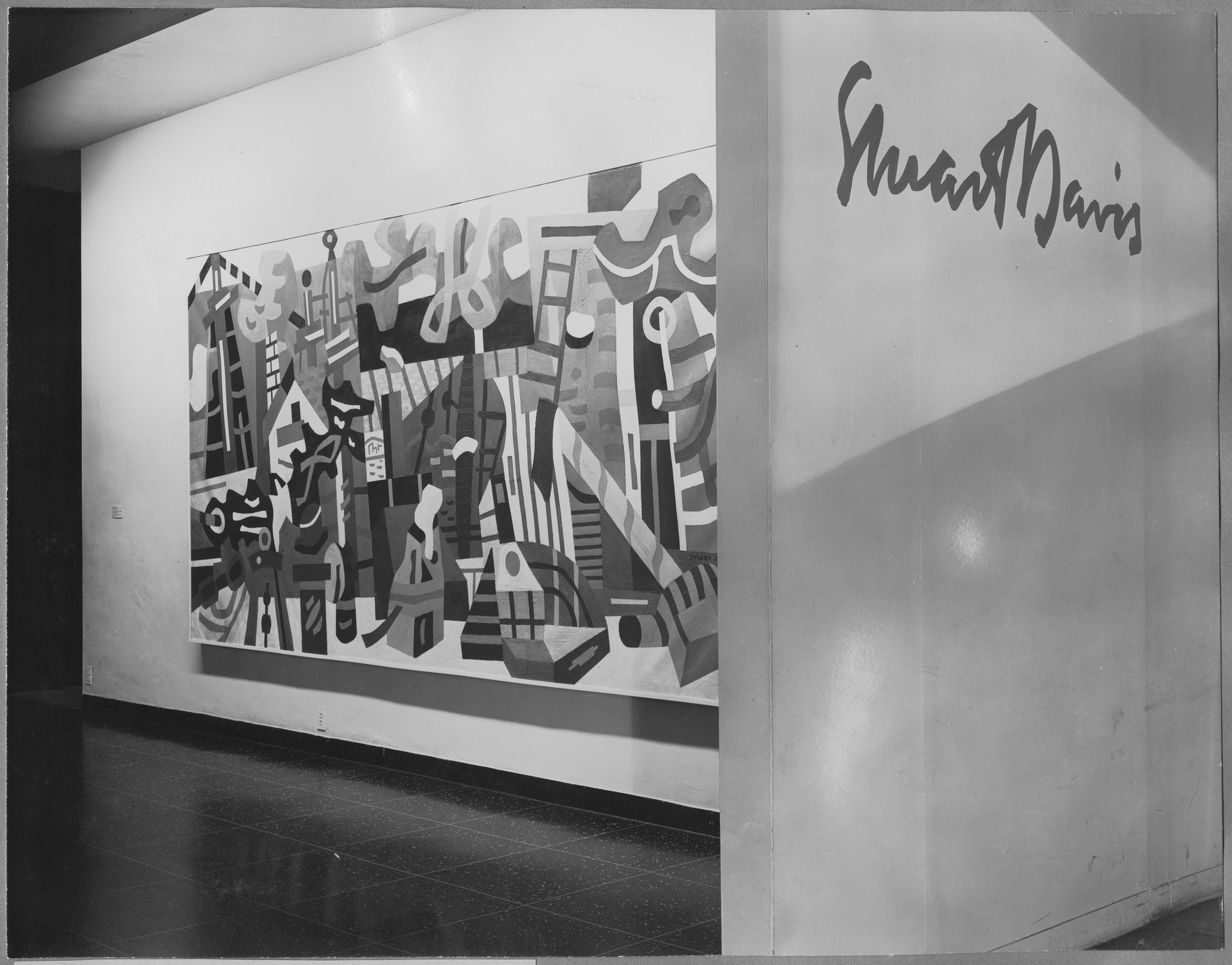 "Installation view of the exhibition, ""Stuart Davis."" October 17, 1945–February 3, 1946. Photographic Archive. The Museum of Modern Art Archives, New York. IN298.1. Photograph by Soichi Sunami."