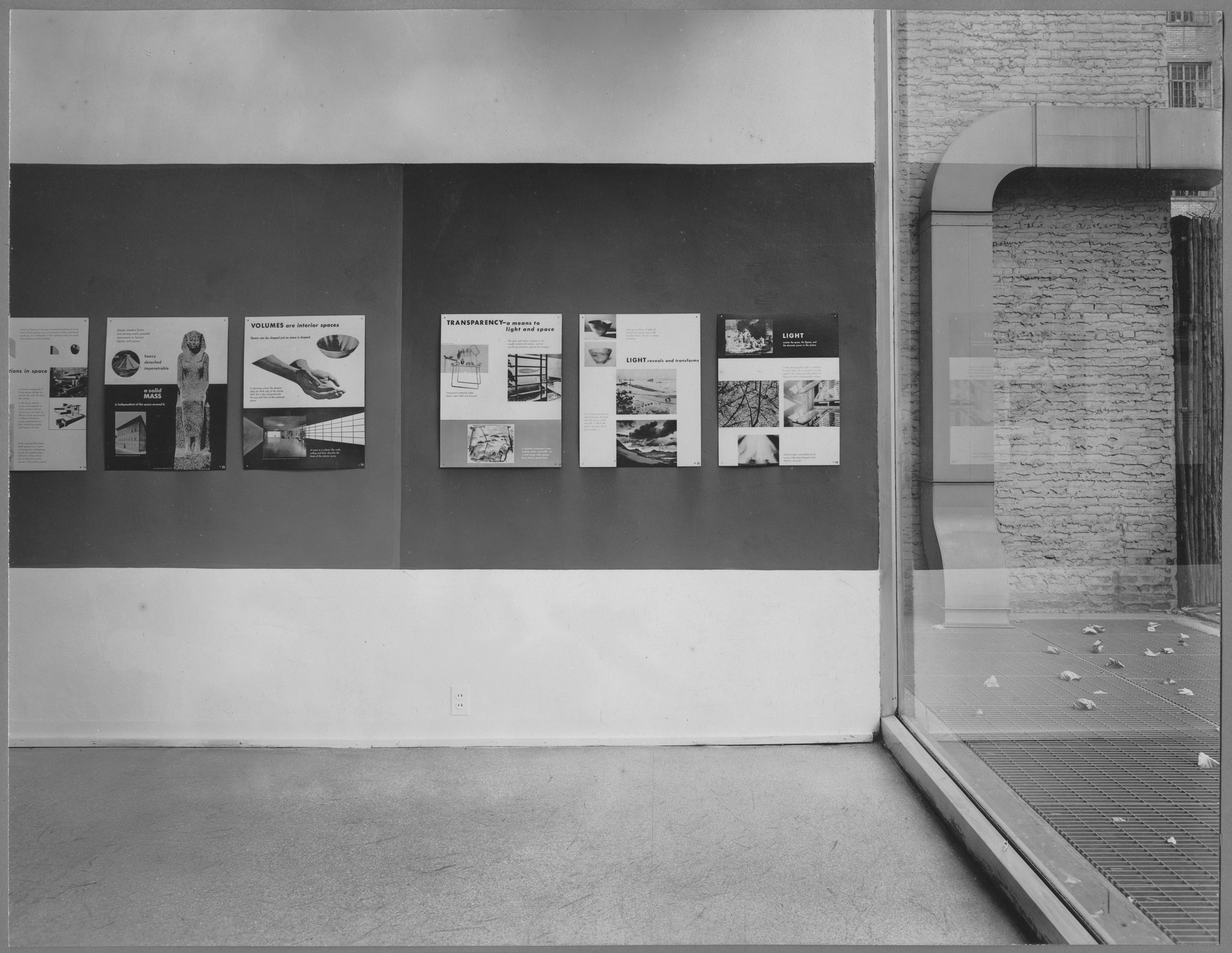 "Installation view of the exhibition, ""Elements of Design."" October 23, 1945–November 15, 1945. Photographic Archive. The Museum of Modern Art Archives, New York. IN299.1. Photograph by Soichi Sunami."