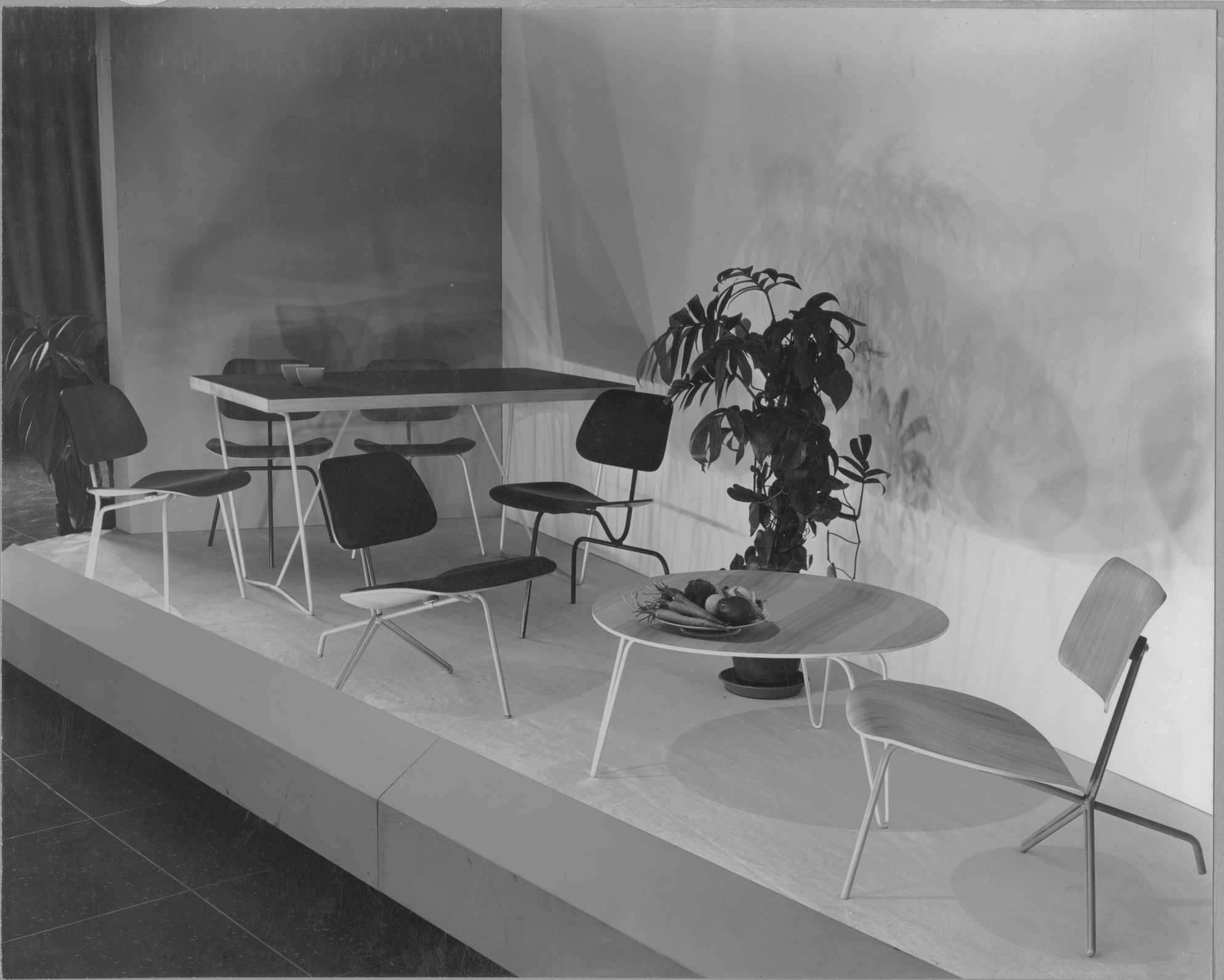 new furniture designed by charles eames moma