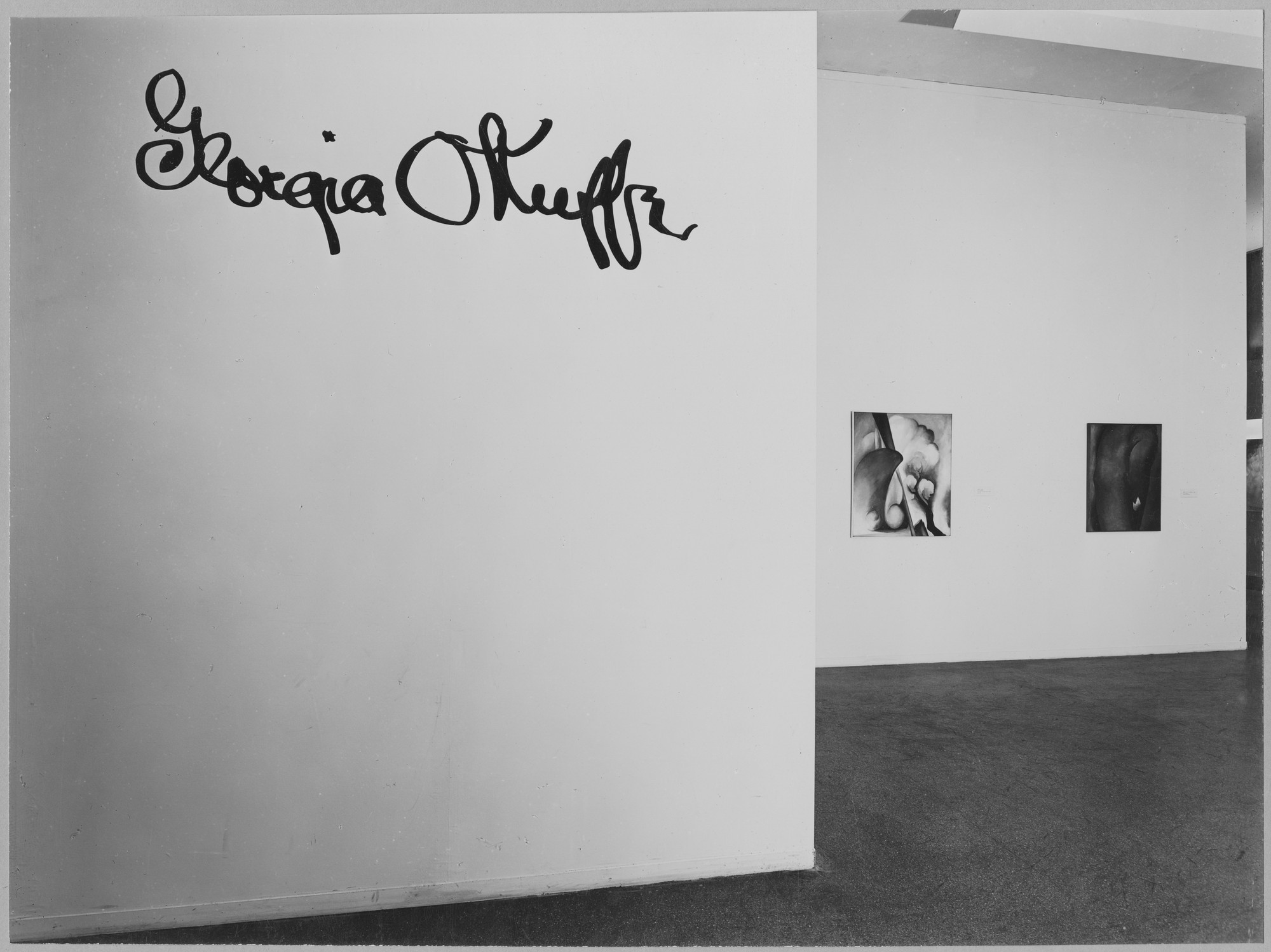 "Installation view of the exhibition, ""Georgia O'Keeffe."" May 14, 1946–August 25, 1946. Photographic Archive. The Museum of Modern Art Archives, New York. IN319.1. Photograph by Soichi Sunami."