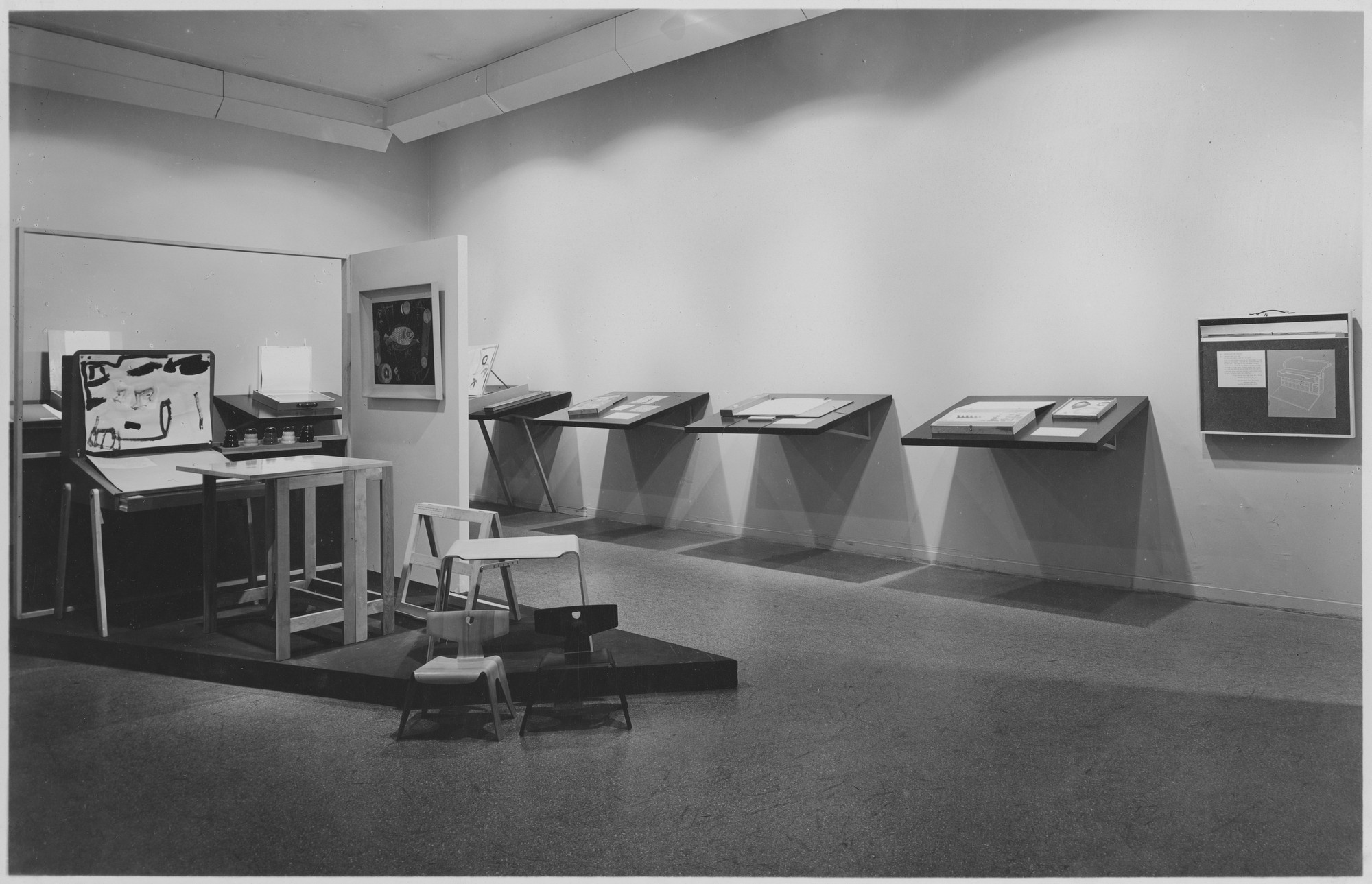 "Installation view of the exhibition, ""Designed for Children."" June 11, 1946–October 6, 1946. Photographic Archive. The Museum of Modern Art Archives, New York. IN320.1. Photograph by Soichi Sunami."