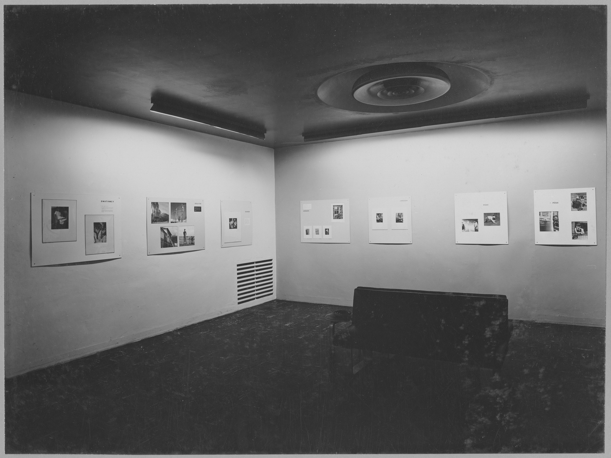 "Installation view of the exhibition, ""New Photographers."" June 18, 1946–September 15, 1946. Photographic Archive. The Museum of Modern Art Archives, New York. IN322.1. Photograph by Soichi Sunami."