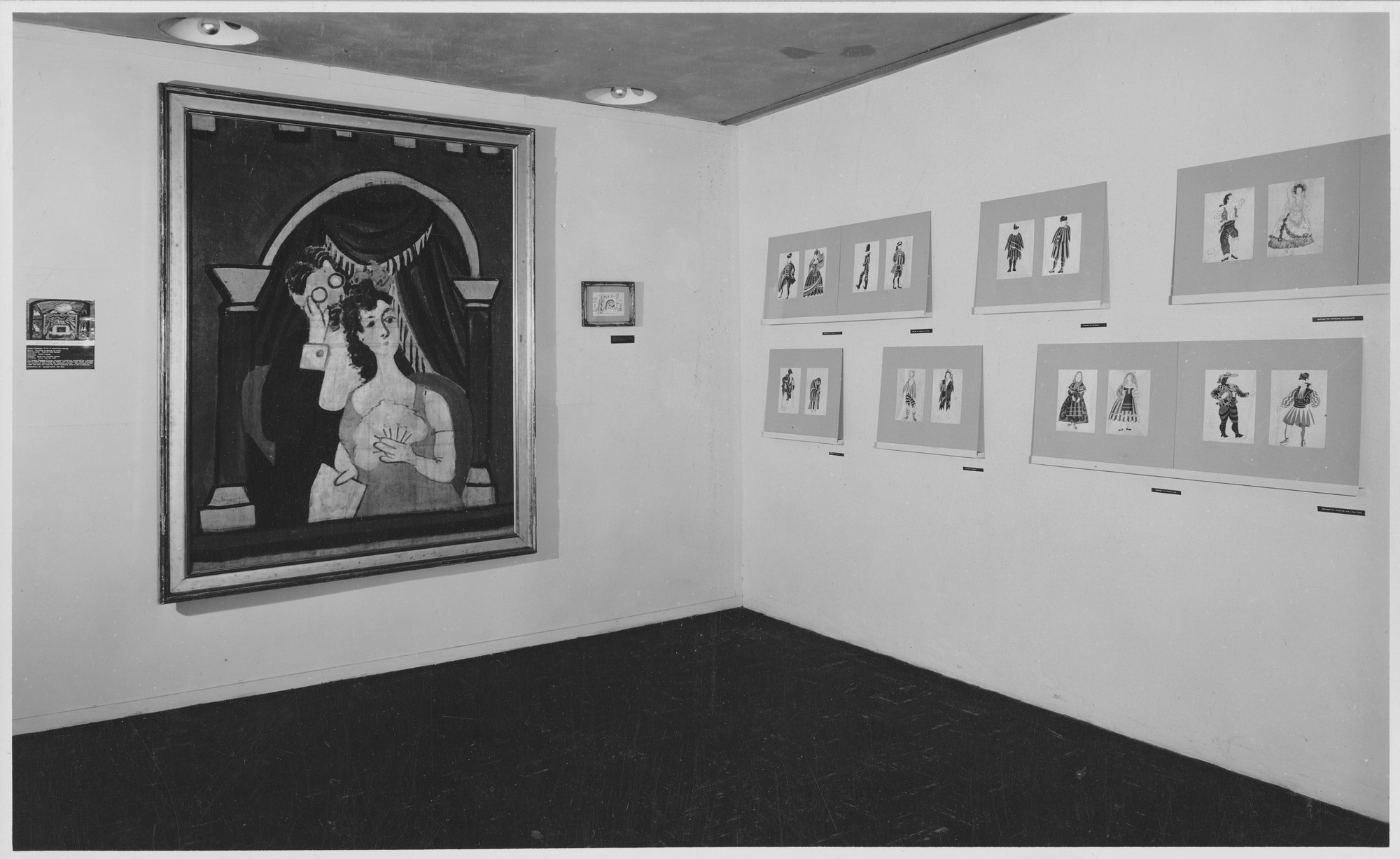 "Installation view of the exhibition, ""'Le Tricorne' by Pablo Picasso."" November 19, 1946–January 13, 1947. Photographic Archive. The Museum of Modern Art Archives, New York. IN335.1. Photograph by Soichi Sunami."