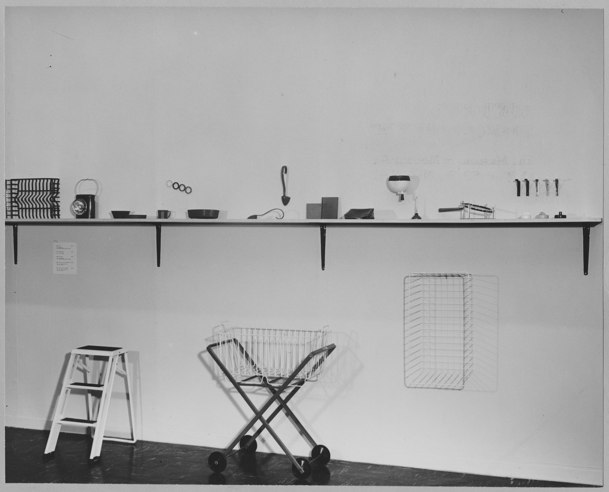 "Installation view of the exhibition, ""Useful Objects, 1946."" November 26, 1946–January 26, 1947. Photographic Archive. The Museum of Modern Art Archives, New York. IN336.1. Photograph by William Leftwich."