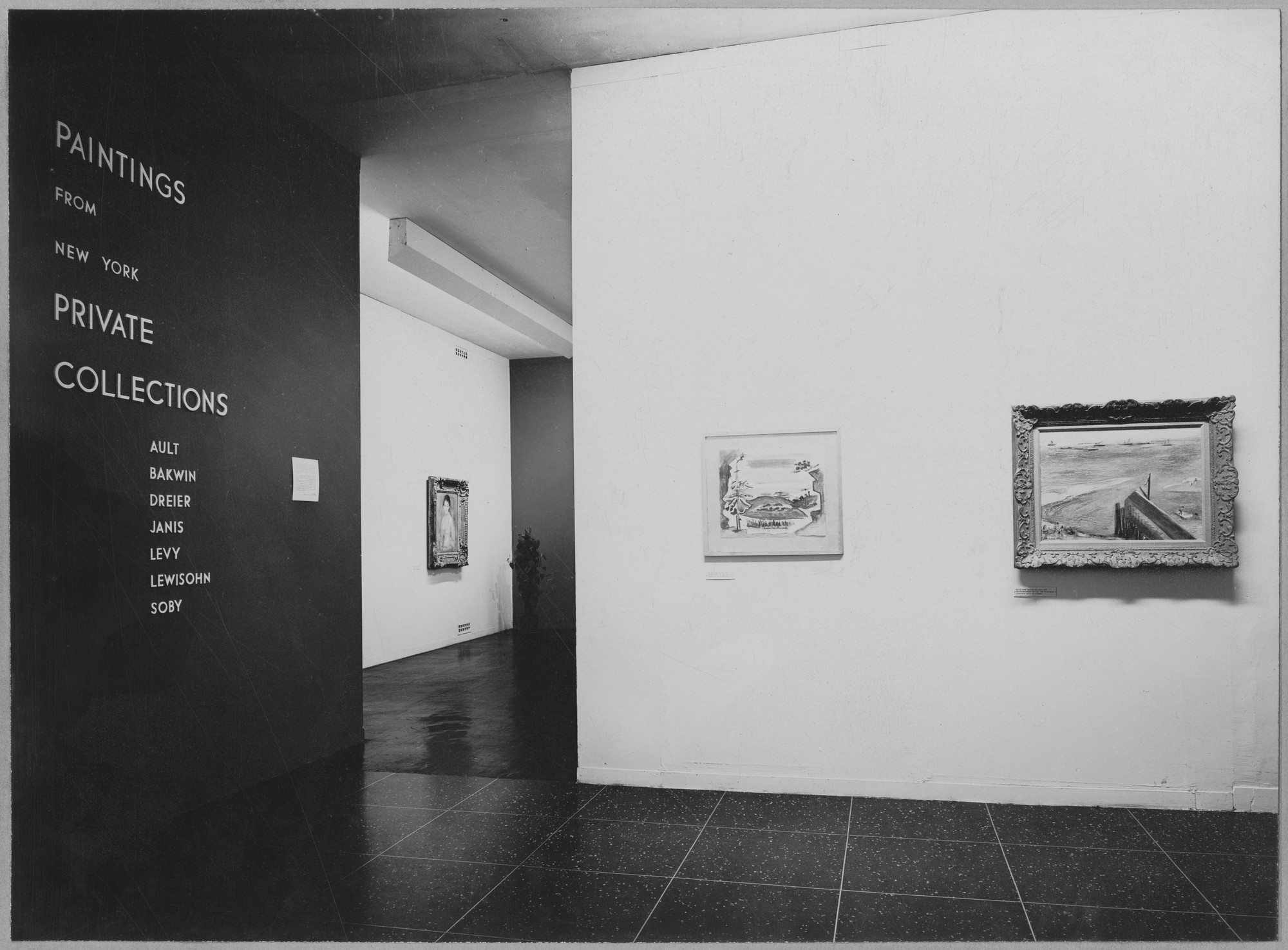 "Installation view of the exhibition, ""Paintings from New York Private Collections."" July 2, 1946–September 22, 1946. Photographic Archive. The Museum of Modern Art Archives, New York. IN325.1. Photograph by Soichi Sunami."