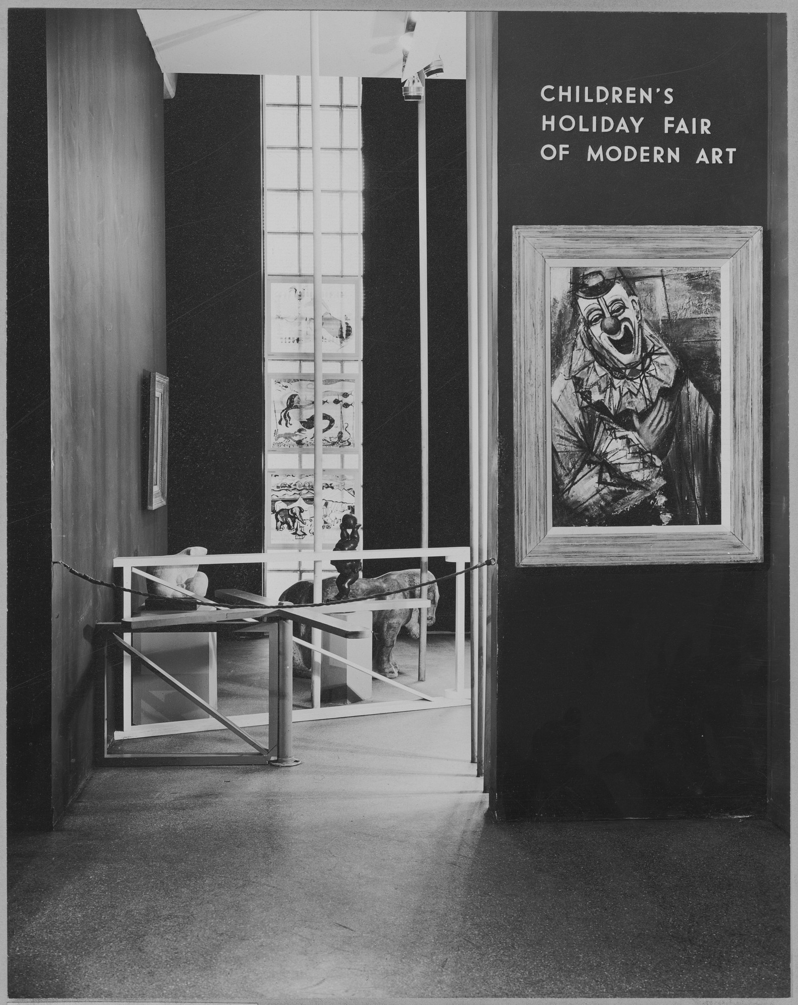 "Installation view of the exhibition, ""Children's Holiday Fair of Modern Art."" December 3, 1946–January 5, 1947. Photographic Archive. The Museum of Modern Art Archives, New York. IN338.1. Photograph by Soichi Sunami."