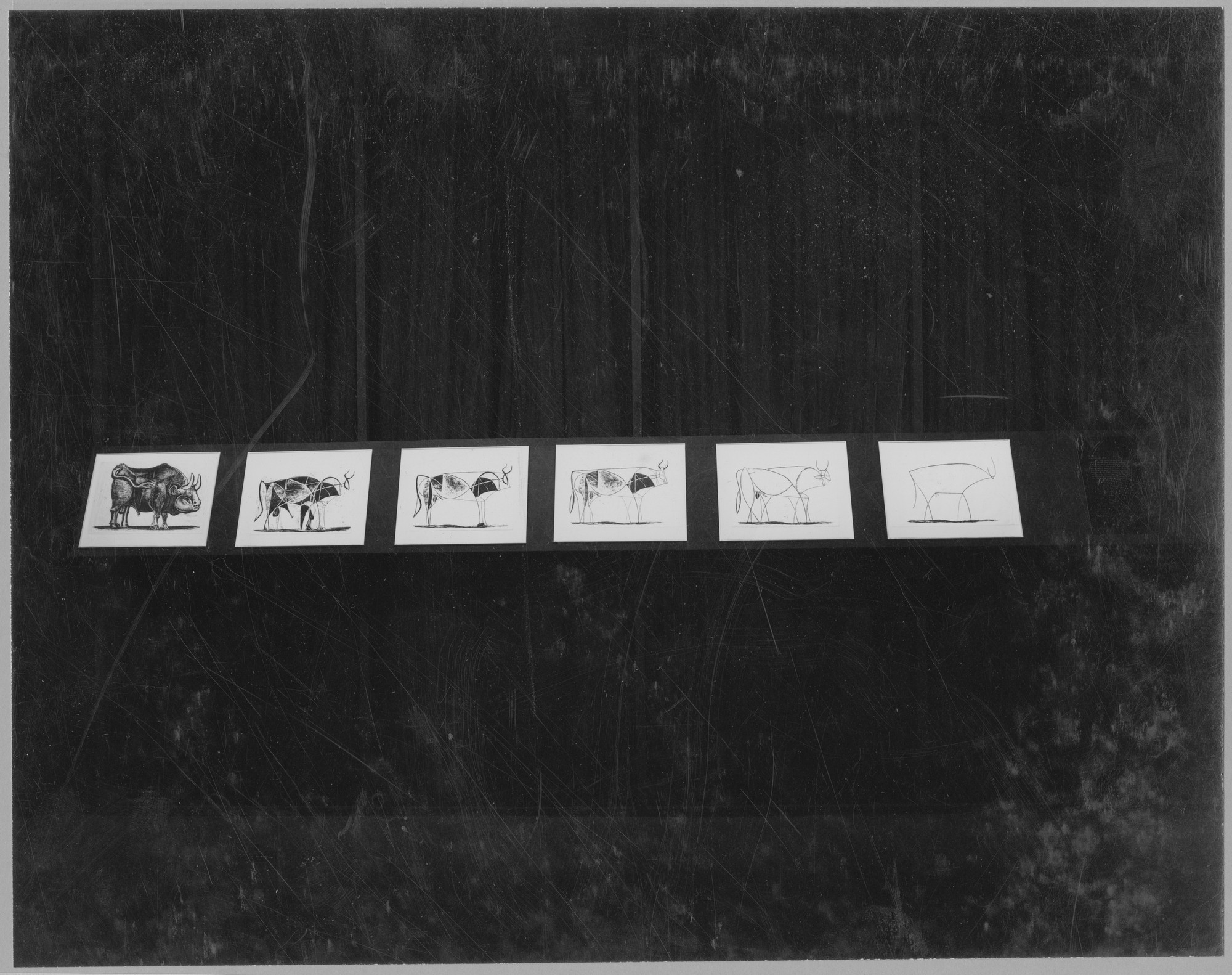 "Installation view of the exhibition,""46 Recent Lithographs by Picasso."" January 28, 1947–April 6, 1947. Photographic Archive. The Museum of Modern Art Archives, New York. IN342.1. Photograph by Soichi Sunami."