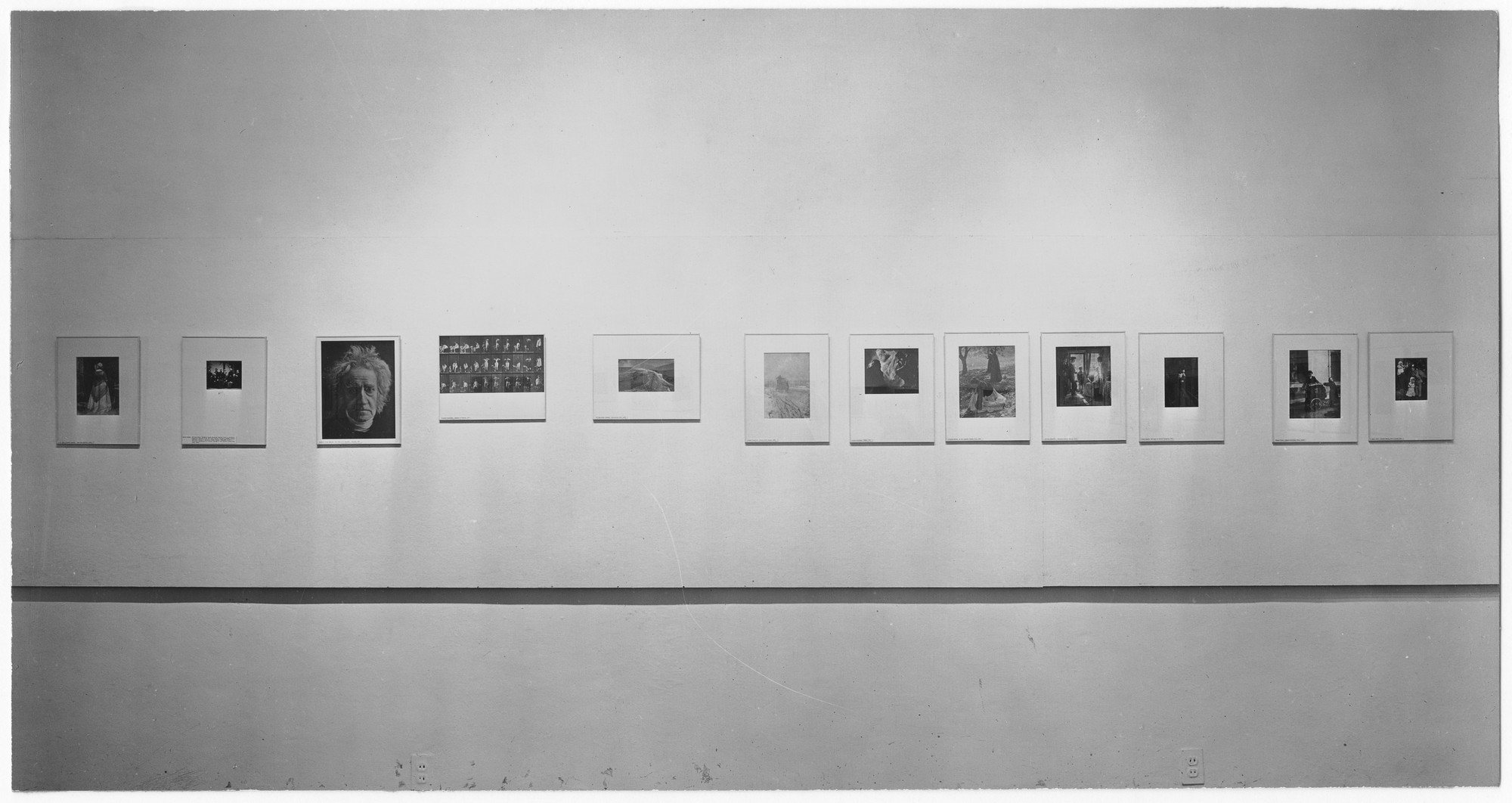 "Installation view of the exhibition, ""50 Photographs by 50 Photographers."" July 27, 1948–September 26, 1948. Photographic Archive. The Museum of Modern Art Archives, New York. IN382.1. Photograph by Soichi Sunami."