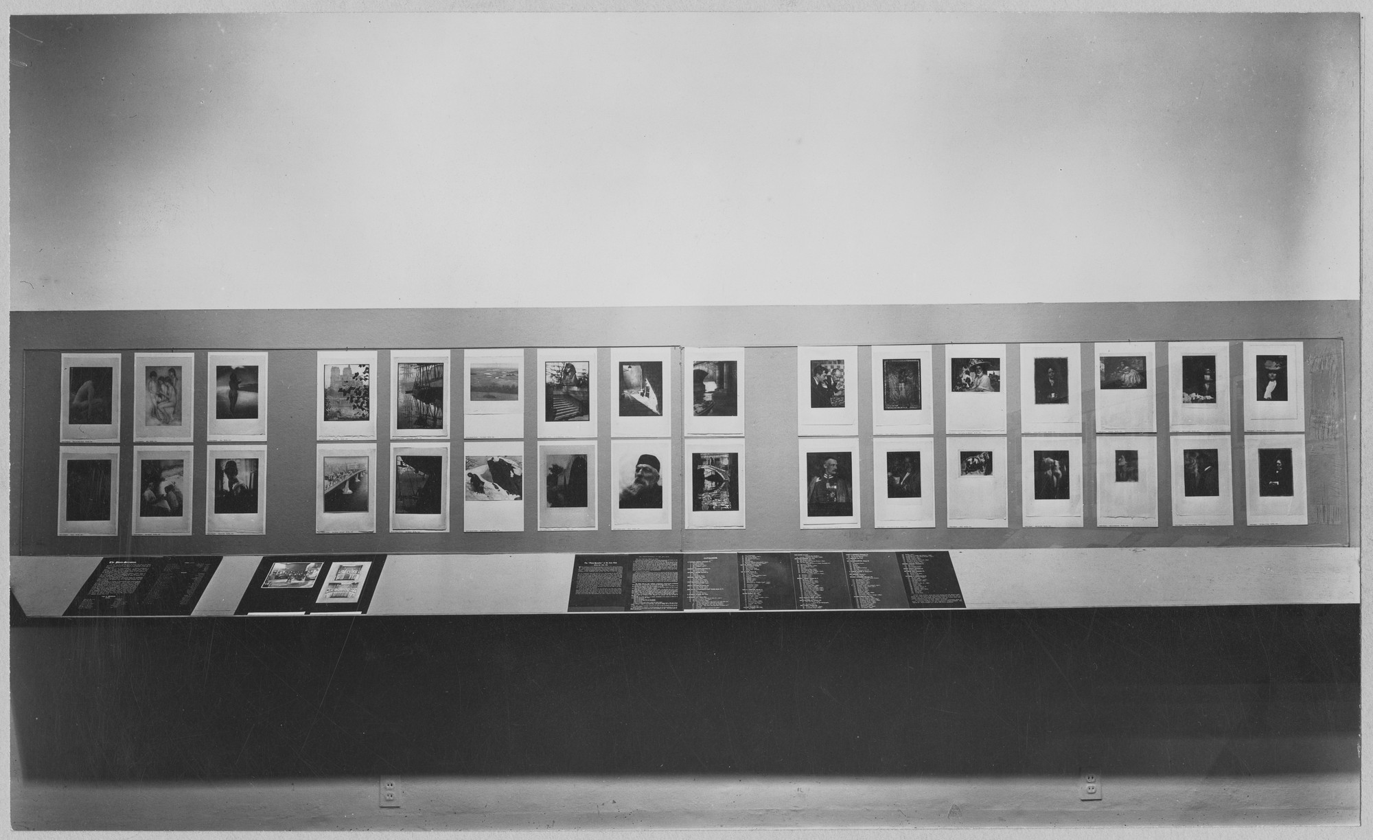 "Installation view of the exhibition, ""Photo-Secession (American Photography 1902-1910)."" September 29, 1948–November 28, 1948. Photographic Archive. The Museum of Modern Art Archives, New York. IN386.1. Photograph by Soichi Sunami."