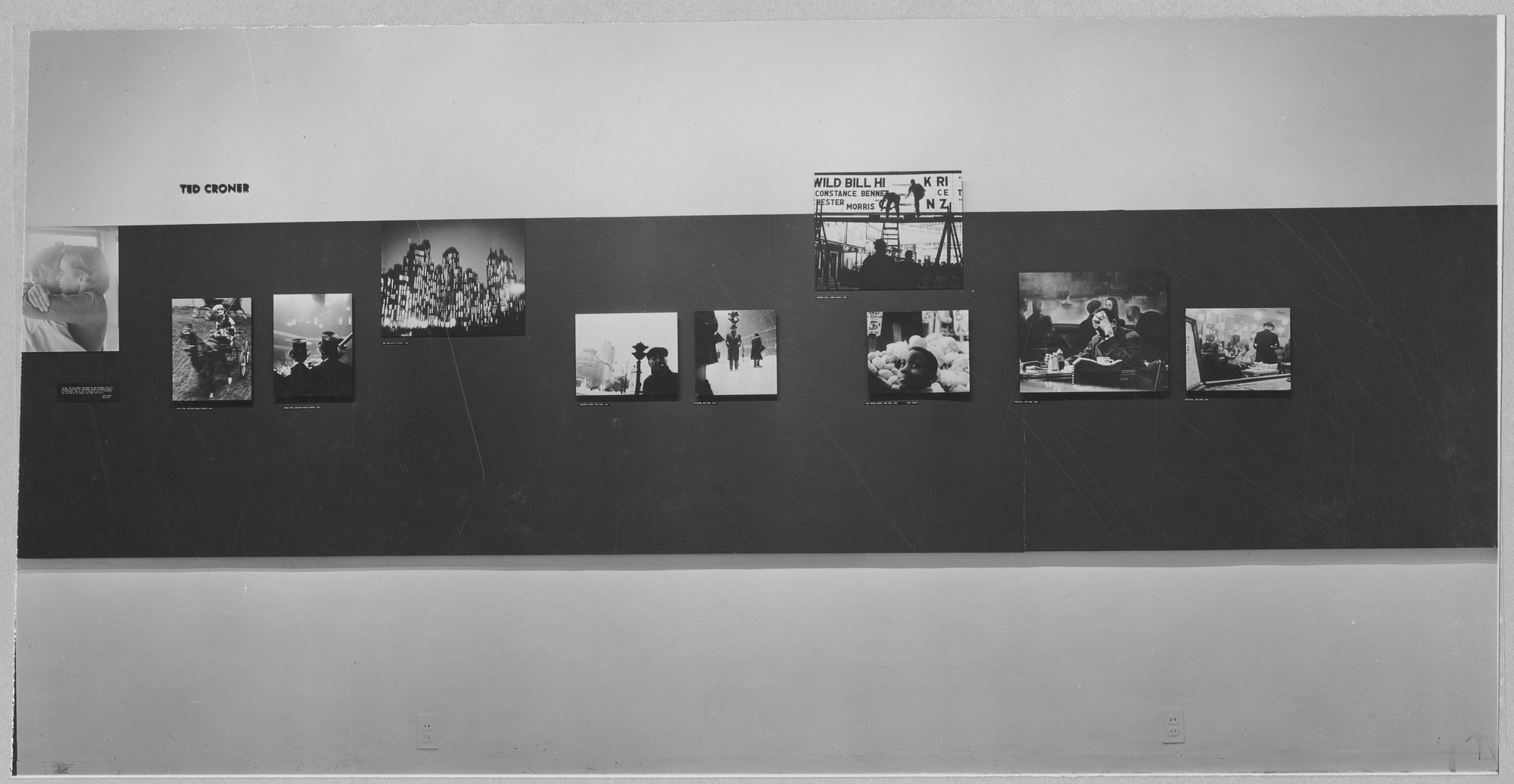 "Installation view of the exhibition, ""Photographs by Bill Brandt, Harry Callahan, Ted Croner, Lisette Model."" November 30, 1948–February 10, 1949. Photographic Archive. The Museum of Modern Art Archives, New York. IN394.1. Photograph by Soichi Sunami."