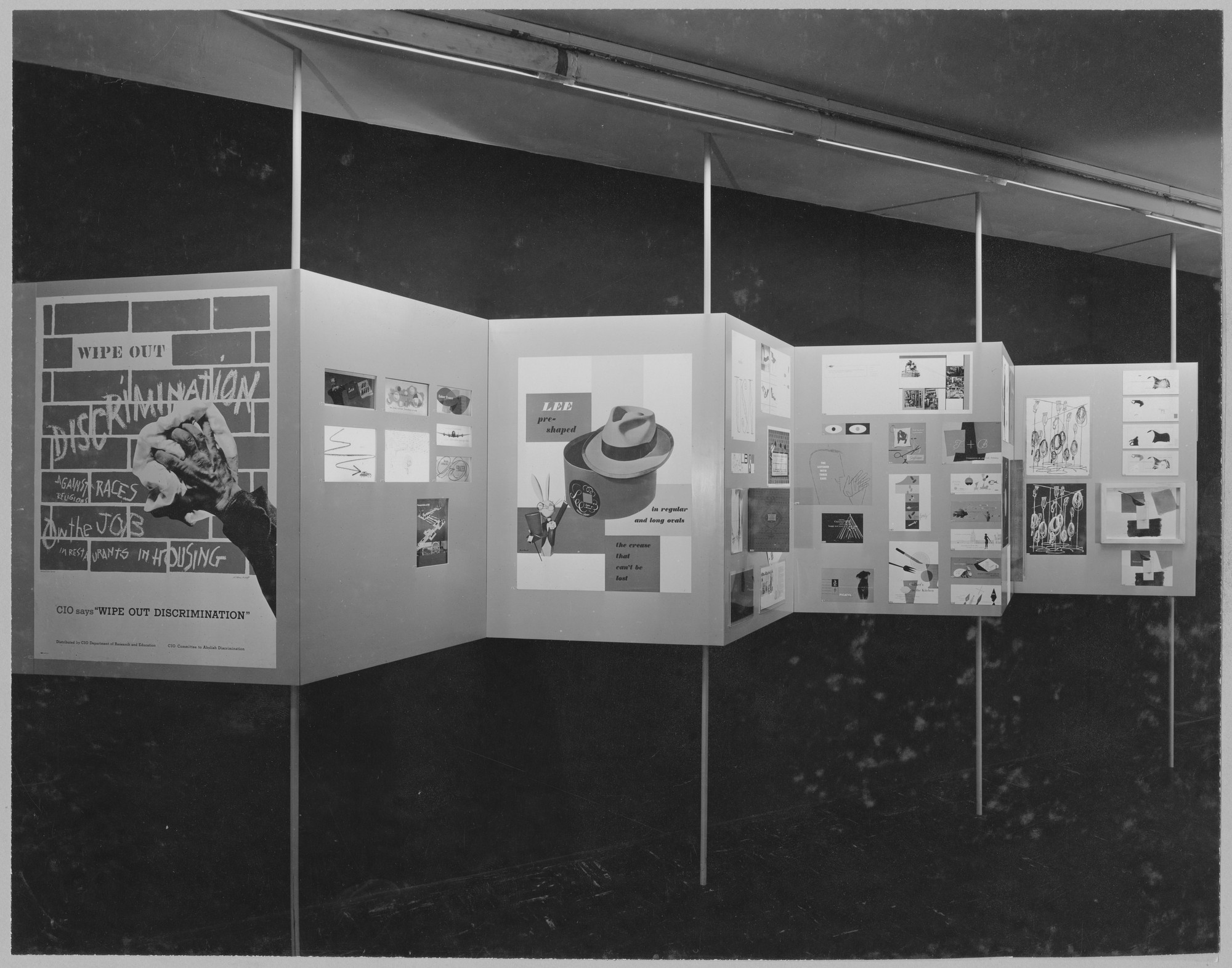 "Installation view of the exhibition, ""Art Directors Club."" March 15, 1949–April 17, 1949. Photographic Archive. The Museum of Modern Art Archives, New York. IN401.1. Photograph by Soichi Sunami."
